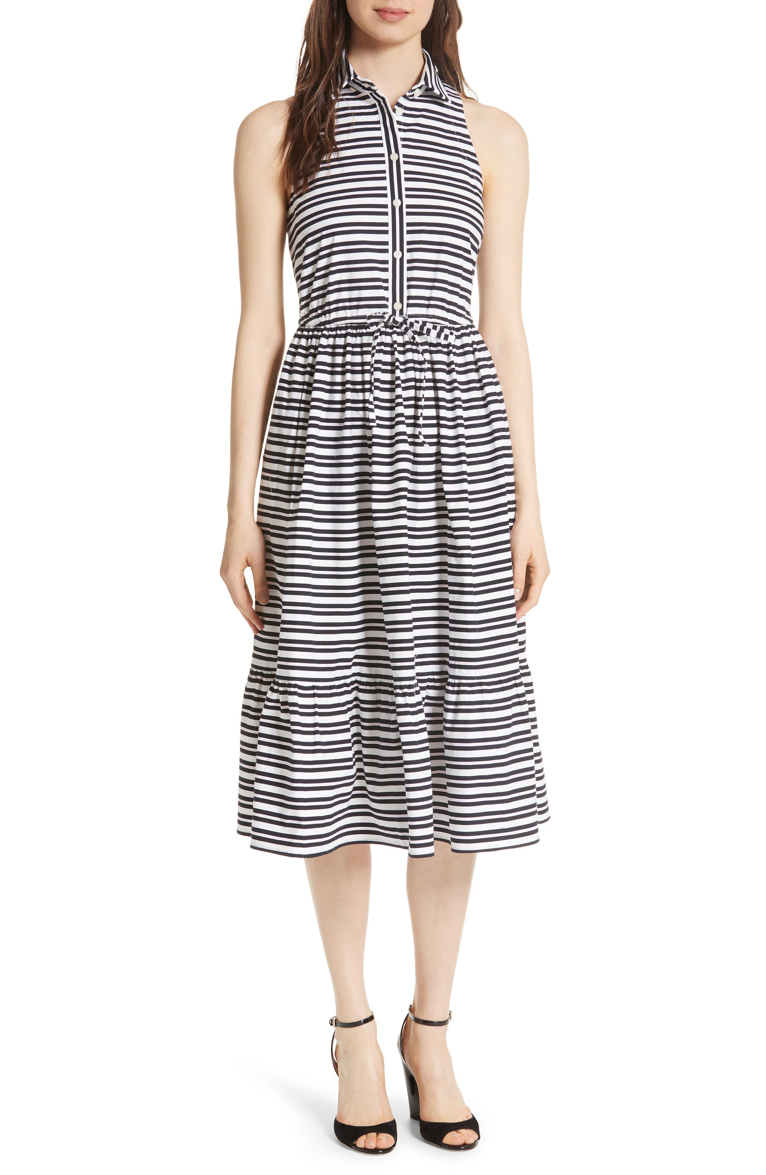 candy stripe stretch cotton shirtdress,                             Main thumbnail 1, color,                             473
