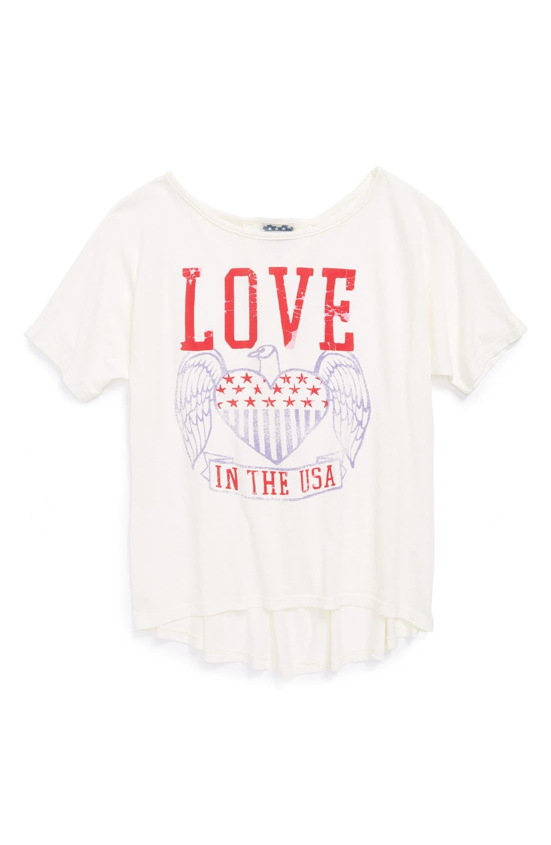 'Love' Graphic Tee,                             Main thumbnail 1, color,                             001