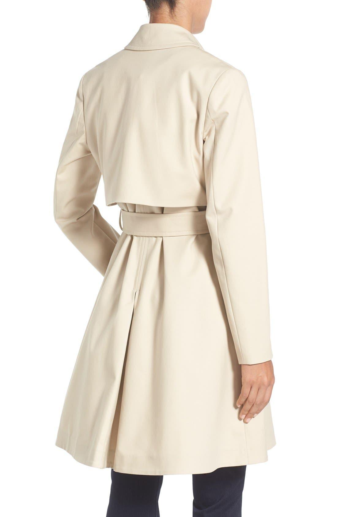 TED BAKER LONDON,                             Flared Skirt Trench Coat,                             Alternate thumbnail 2, color,                             253