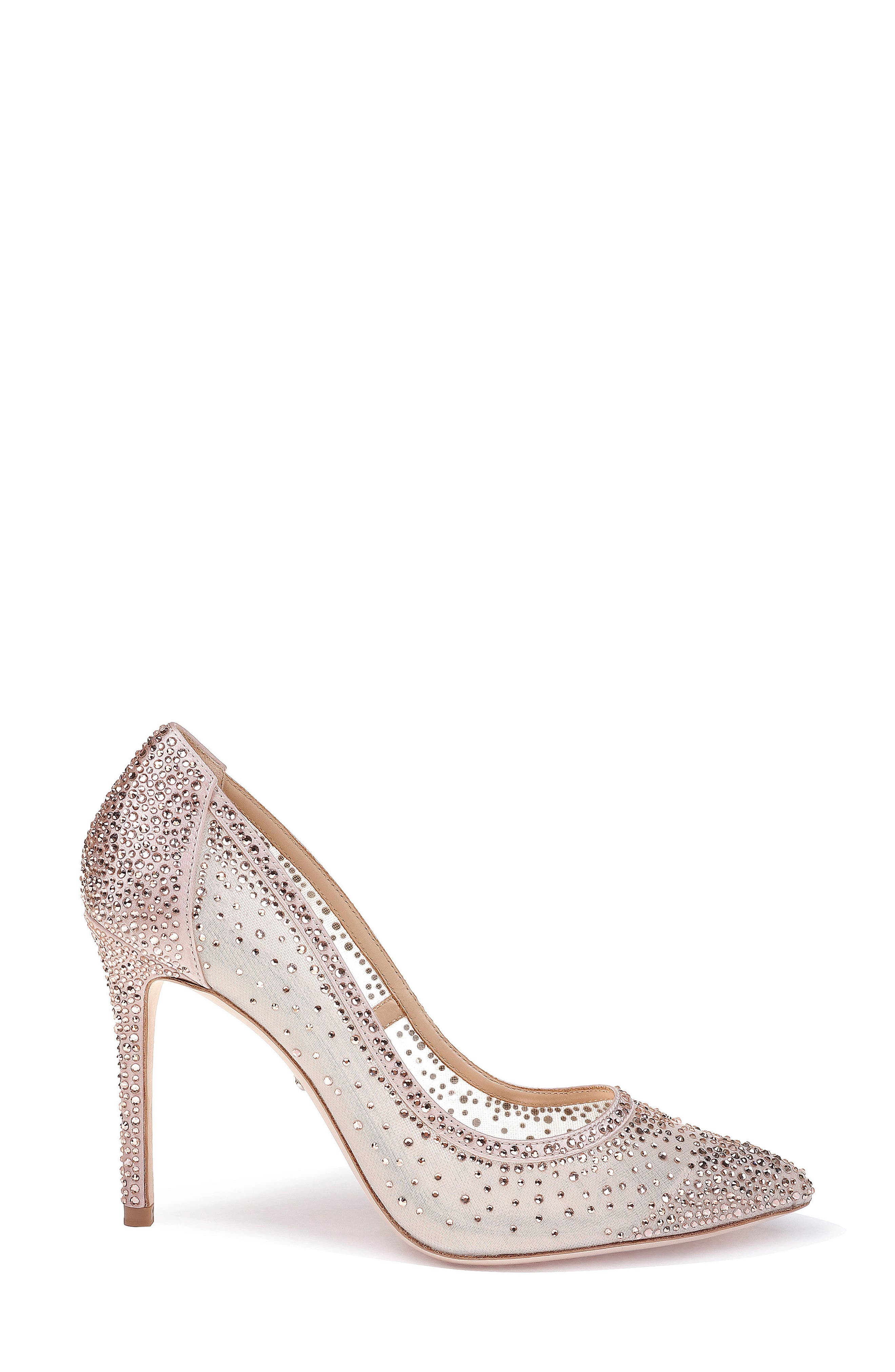 Weslee Pointy Toe Pump,                             Alternate thumbnail 3, color,                             BLUSH SATIN