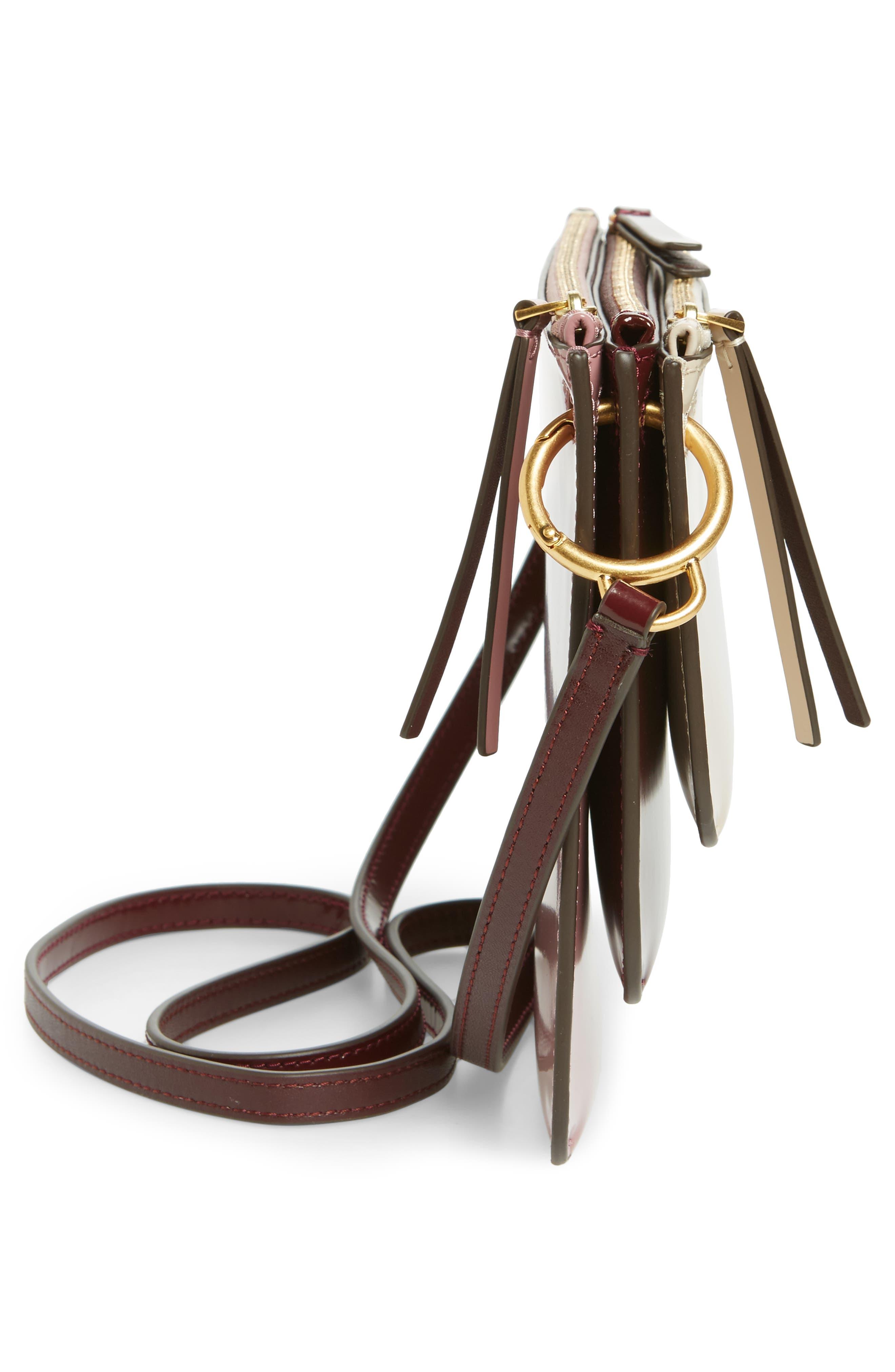 Leather Accordion Crossbody Bag,                             Alternate thumbnail 5, color,                             250