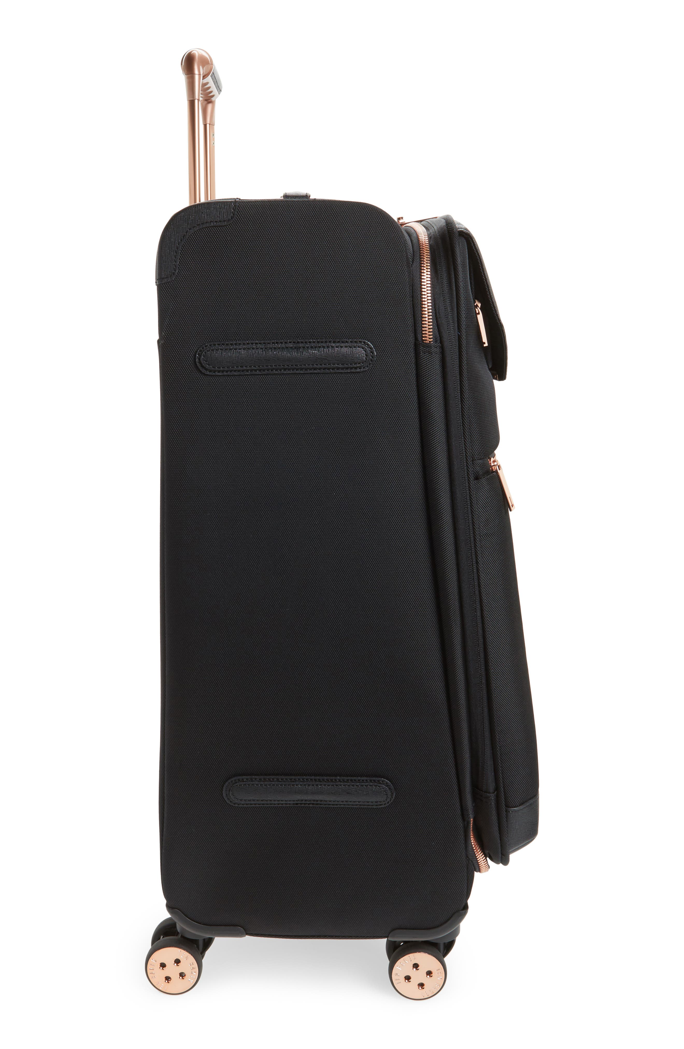 Medium Albany 27-Inch Spinner Suitcase,                             Alternate thumbnail 3, color,                             BLACK