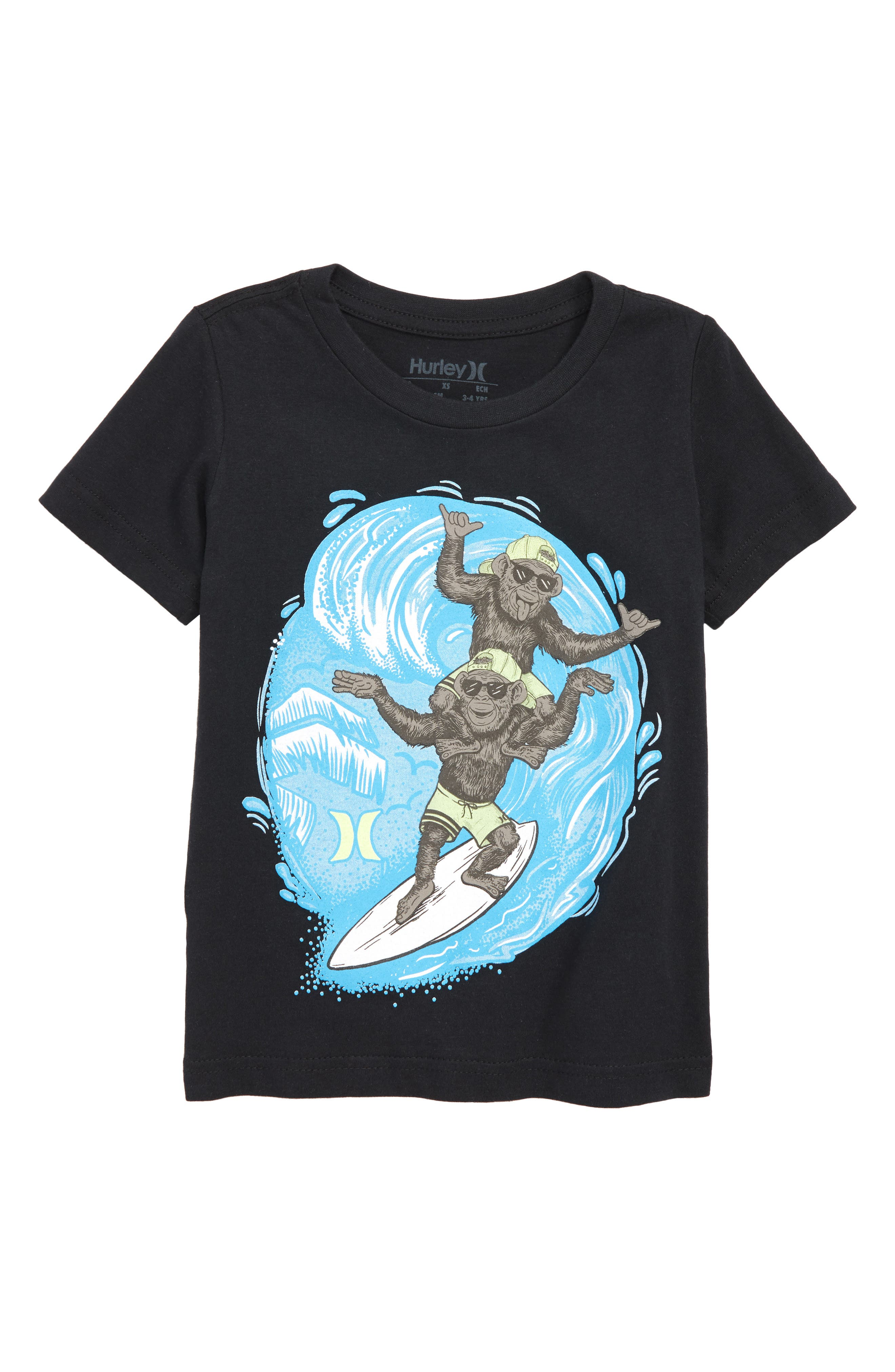 HURLEY,                             Double Trouble Graphic T-Shirt,                             Main thumbnail 1, color,                             001