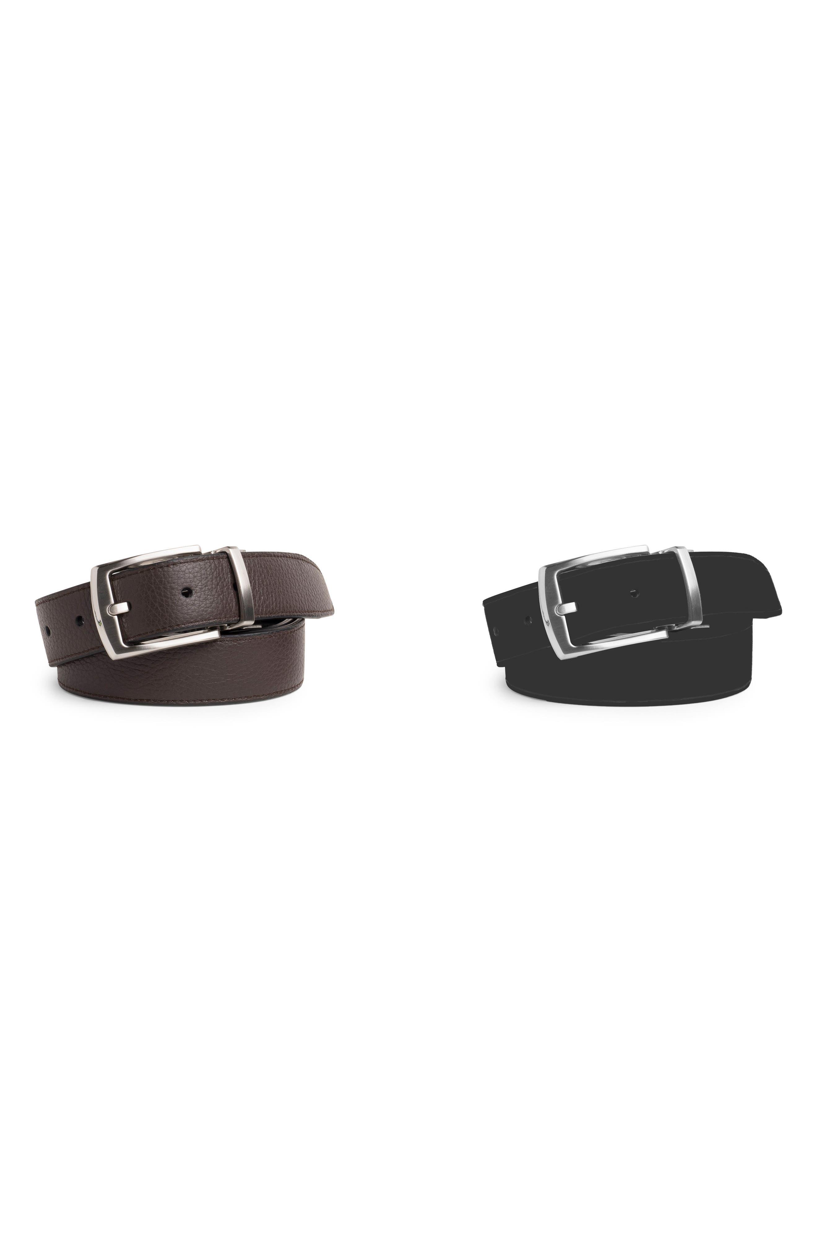 Classic Reversible Leather Belt,                             Main thumbnail 1, color,                             017