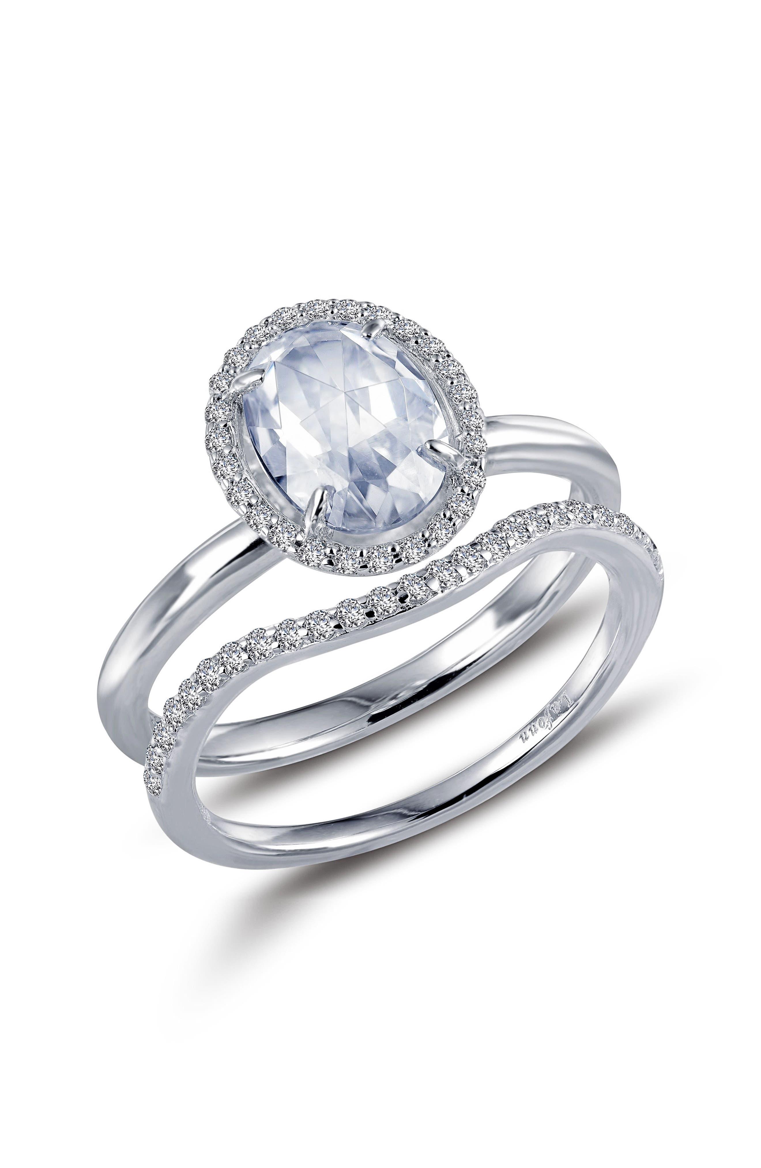 Rose Cut Simulated Diamond Ring,                         Main,                         color,