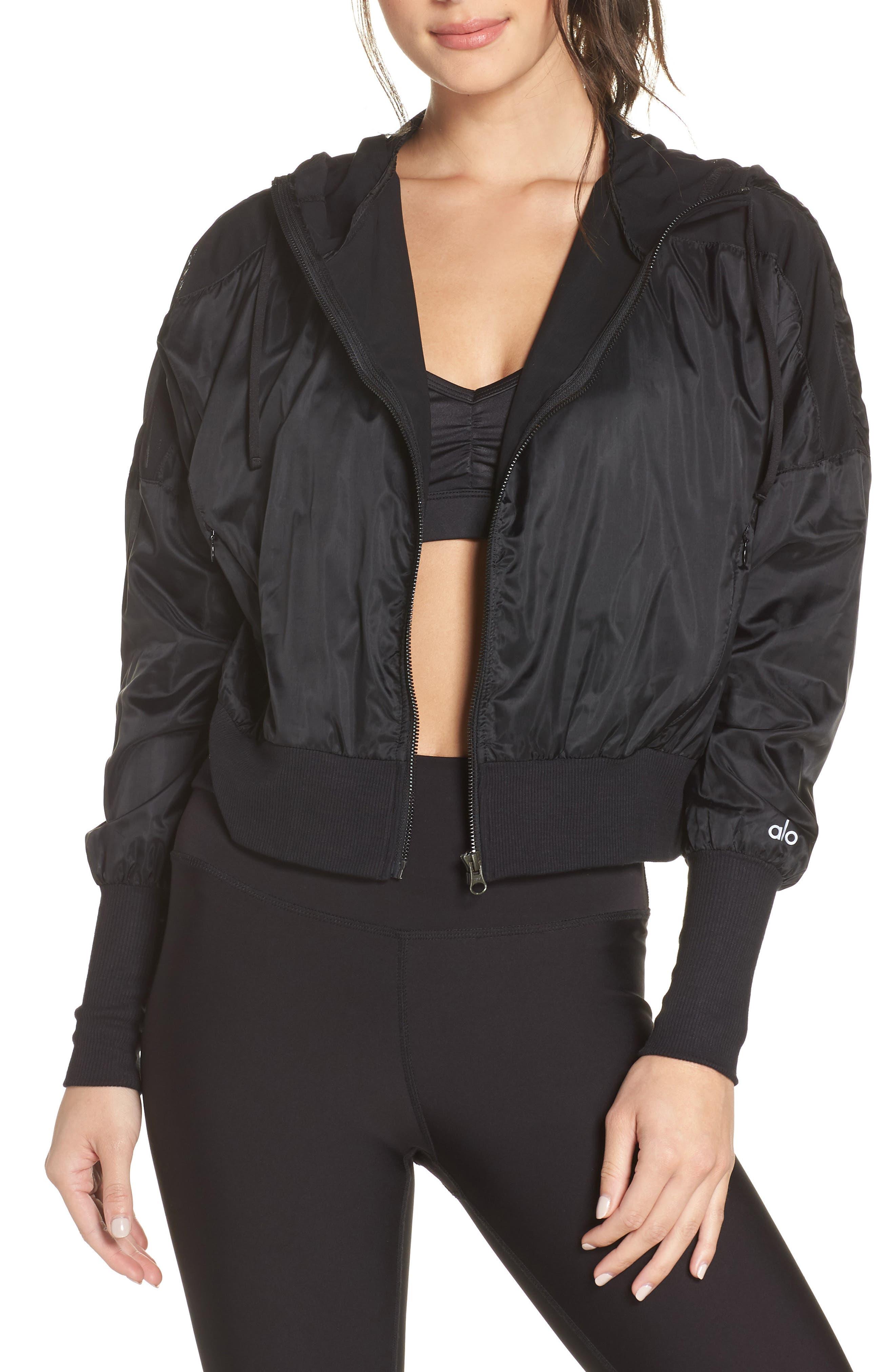 Aqua Jacket,                         Main,                         color, BLACK