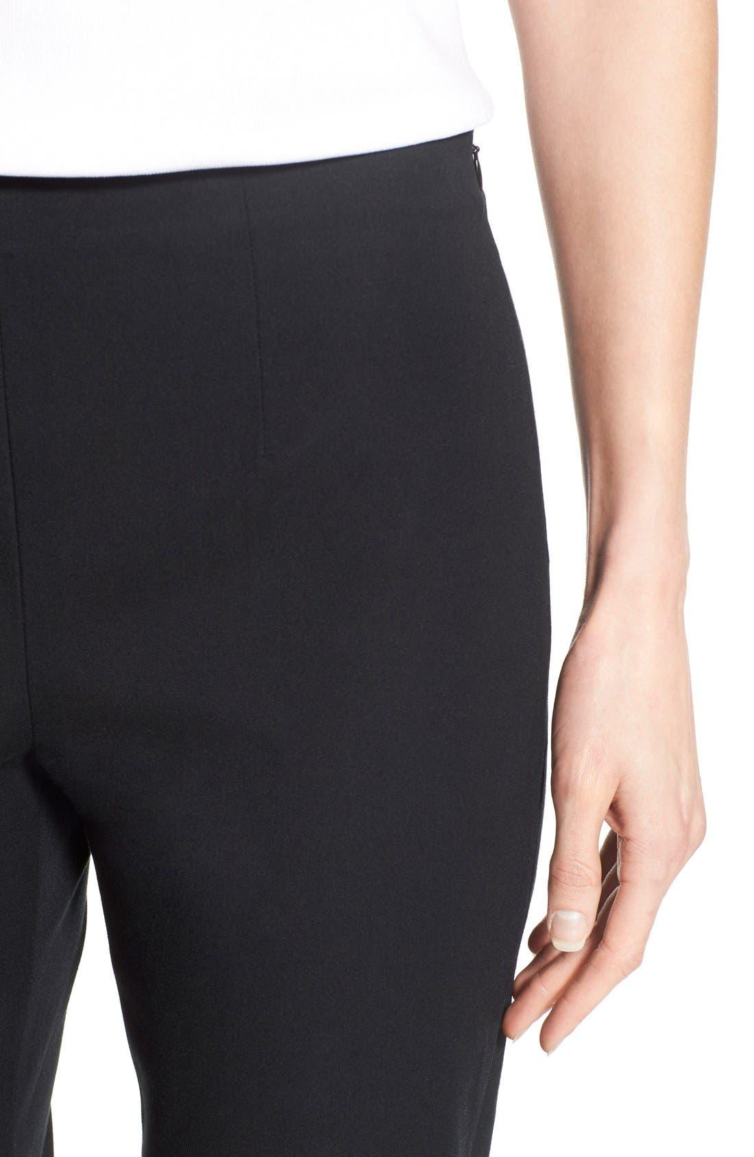 Woven Slim Ankle Pants,                             Alternate thumbnail 8, color,                             BLACK