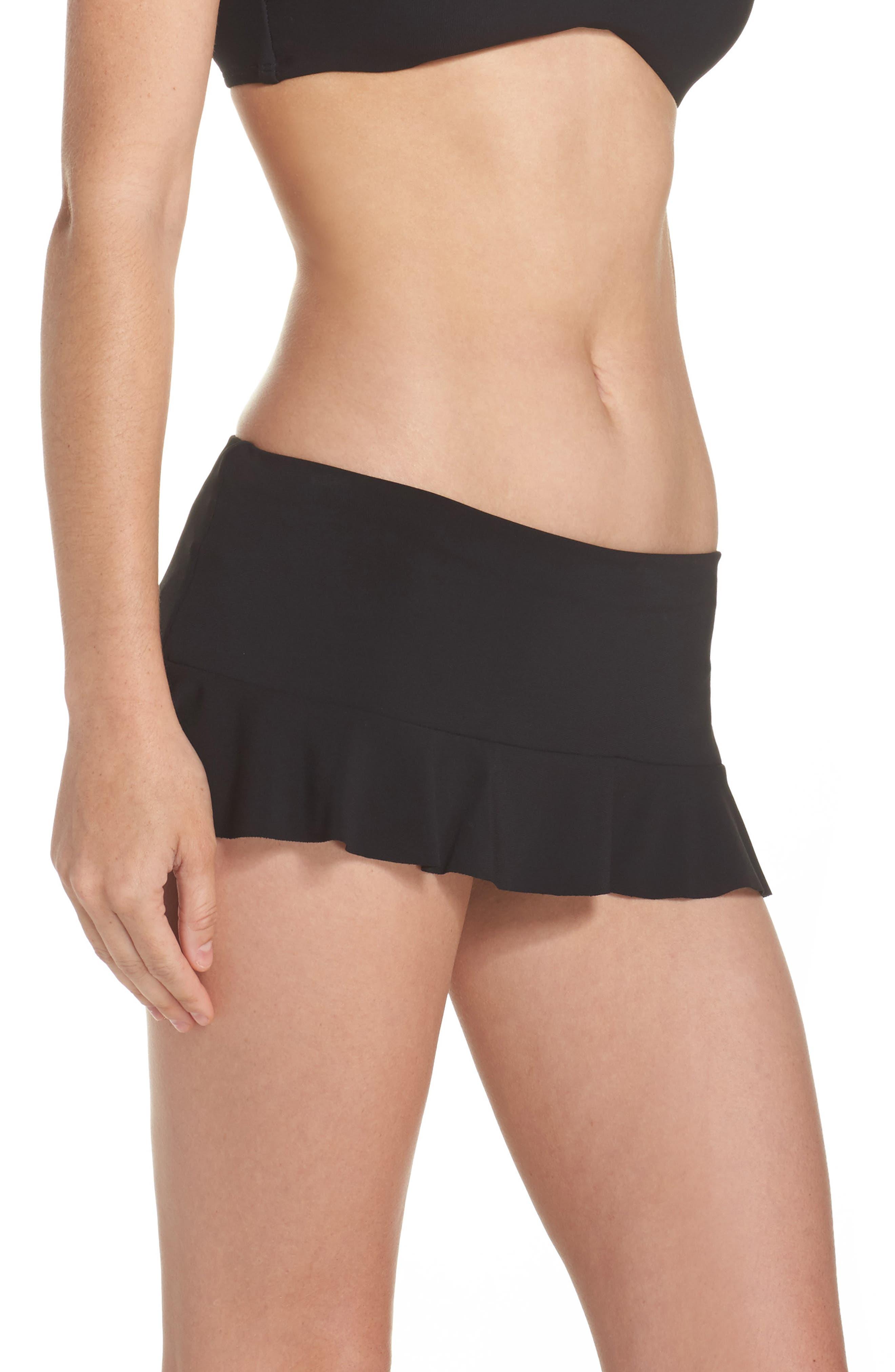 Lina Ruffle Swim Skirt,                             Alternate thumbnail 3, color,