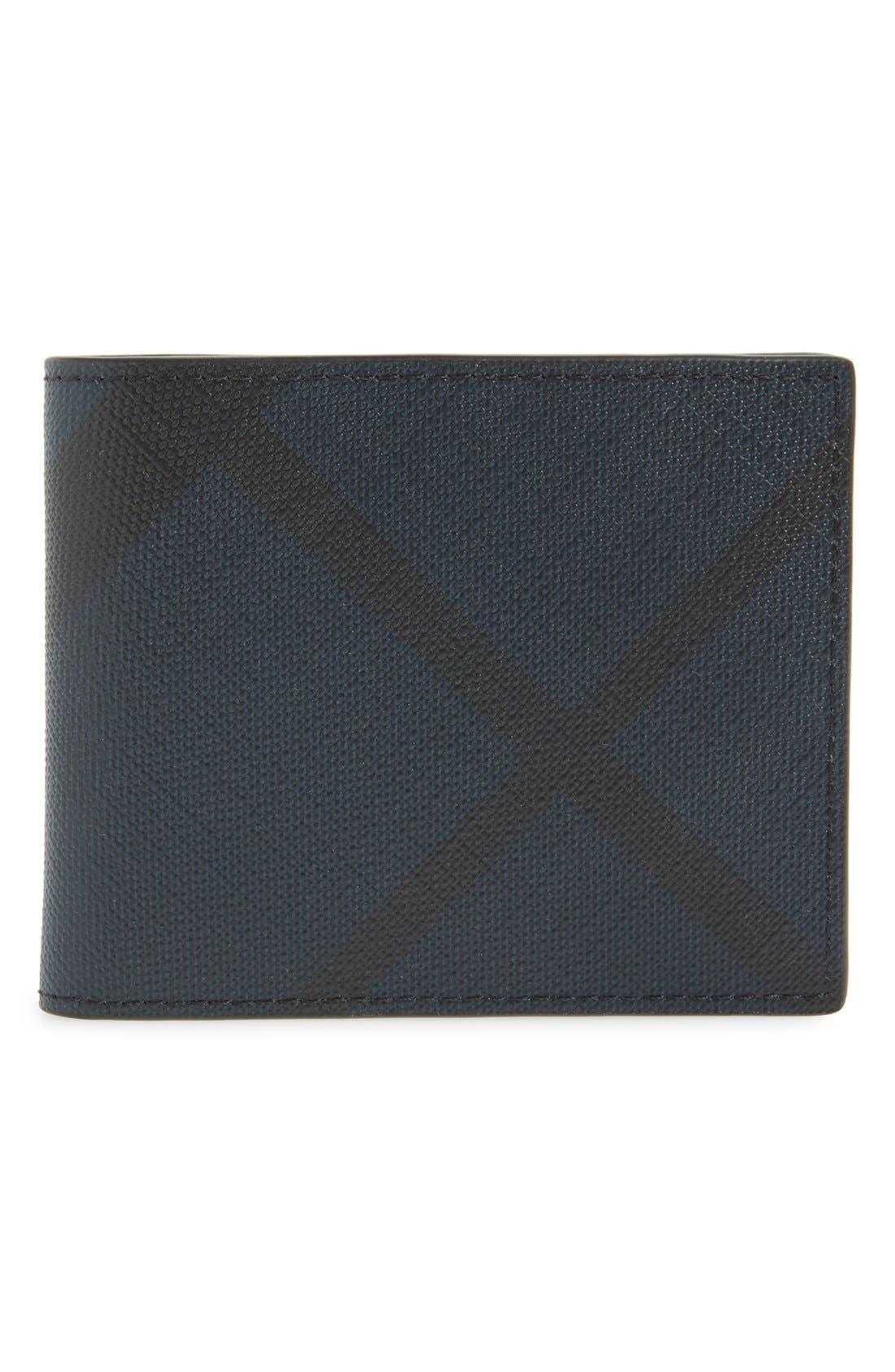 Check Wallet,                         Main,                         color, NAVY/ BLACK