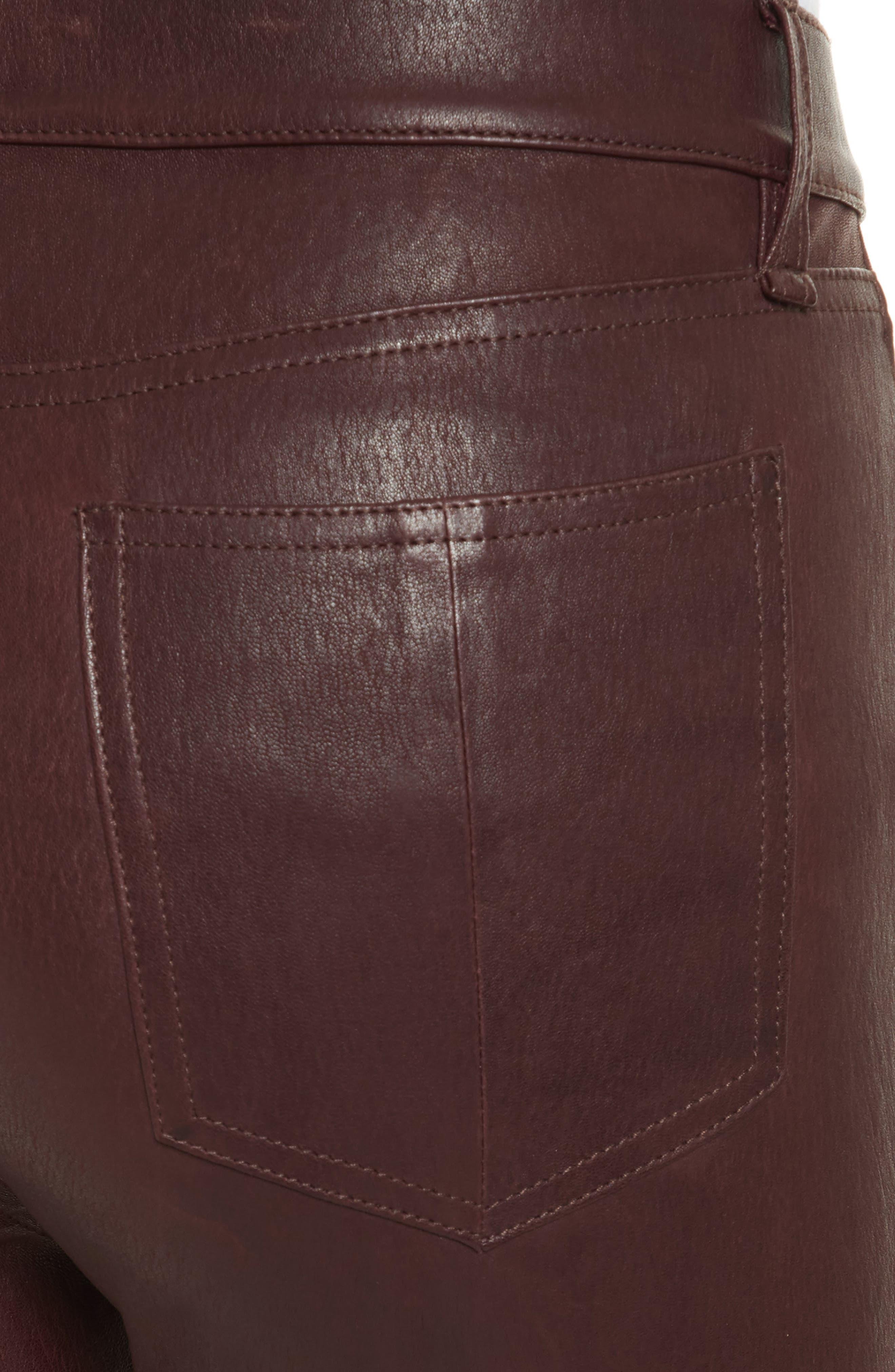 Lambskin Leather Pants,                             Alternate thumbnail 4, color,                             230