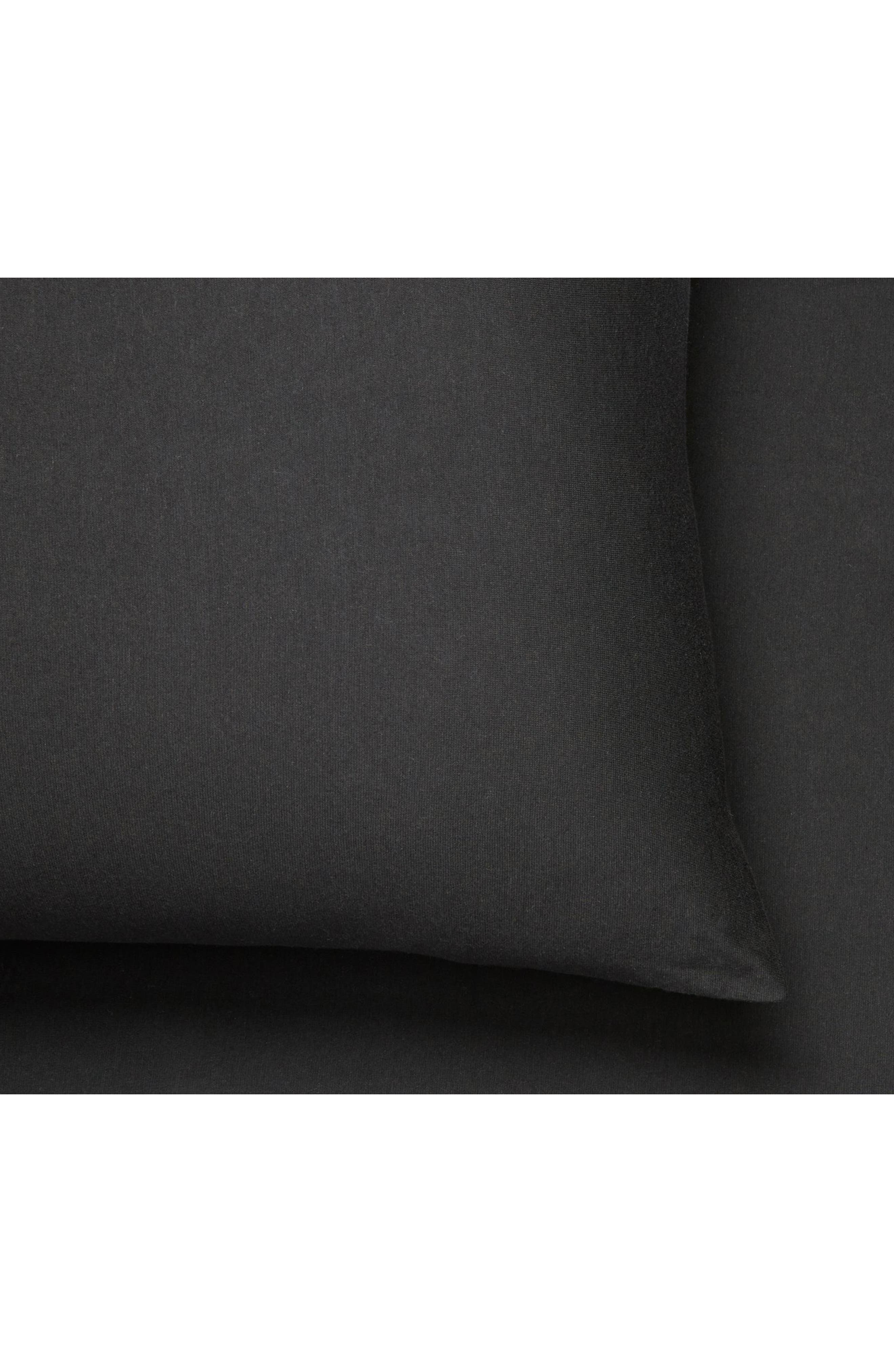 Home Harrison Set of 2 Pillowcases,                             Alternate thumbnail 2, color,                             BLACK