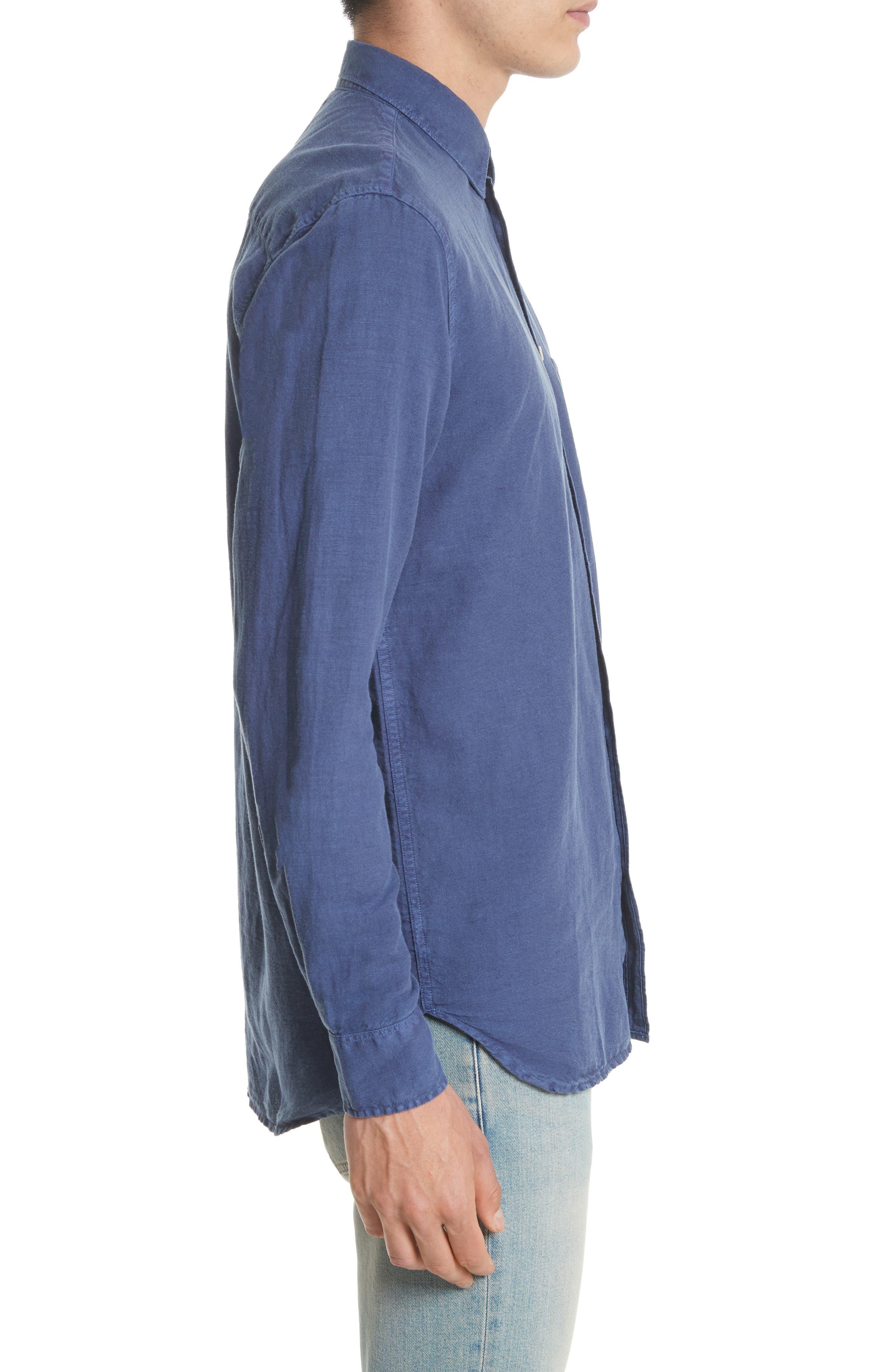 Generation Linen & Cotton Sport Shirt,                             Alternate thumbnail 4, color,                             450