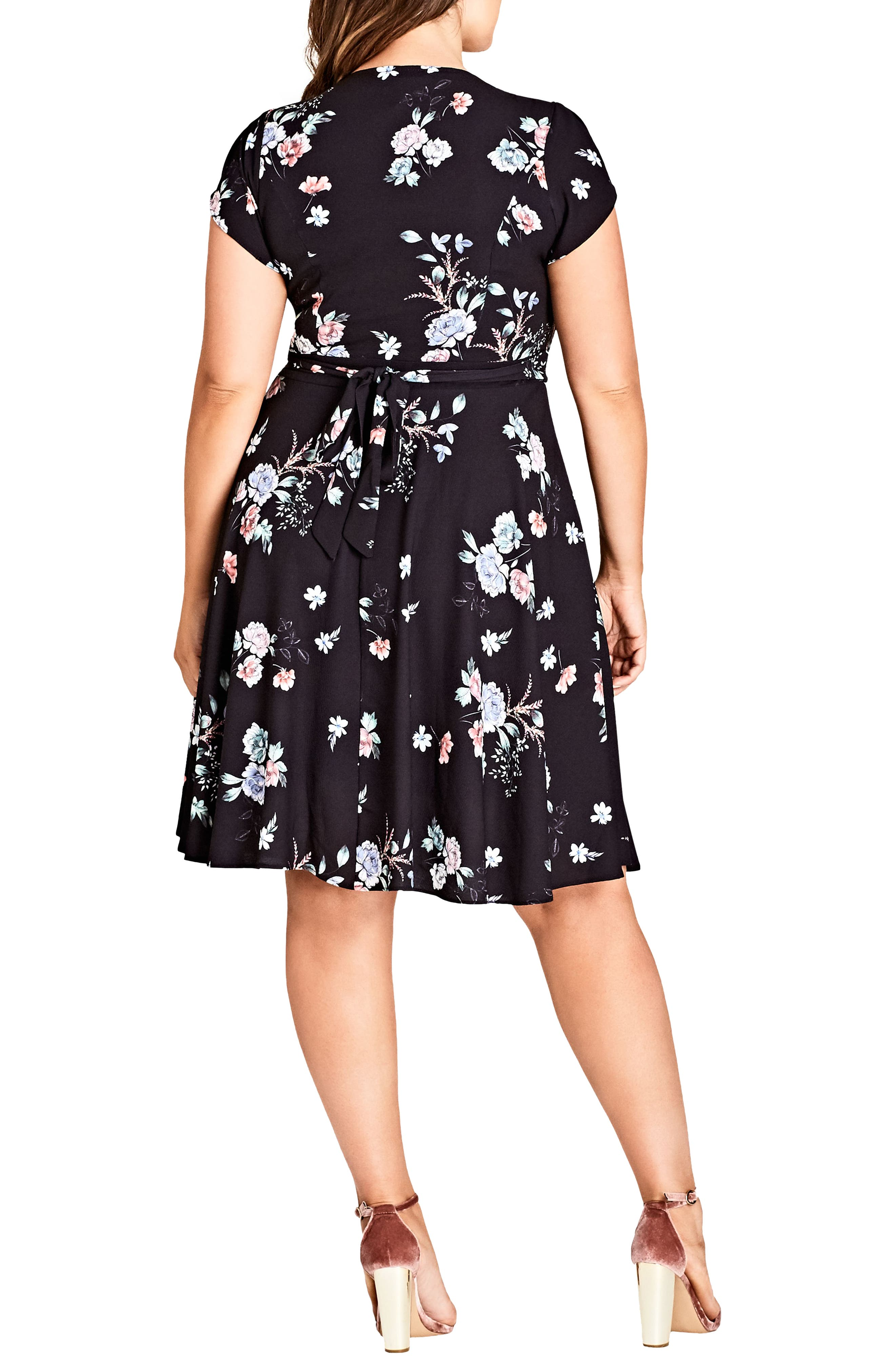 Lovely Blooms Fit & Flare Dress,                             Alternate thumbnail 2, color,                             LOVELY BLOOMS