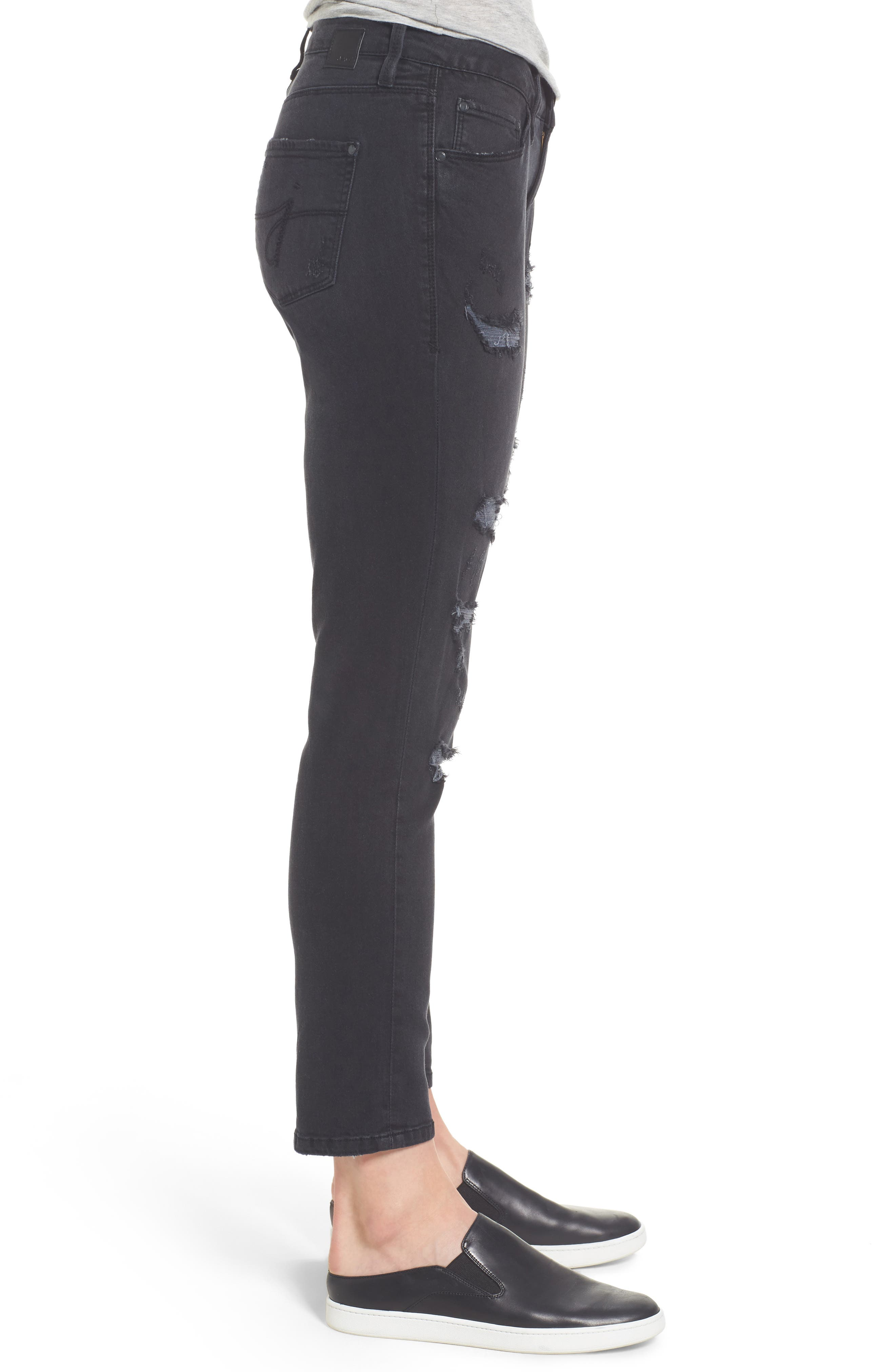 Mera Distressed Skinny Ankle Jeans,                             Alternate thumbnail 3, color,
