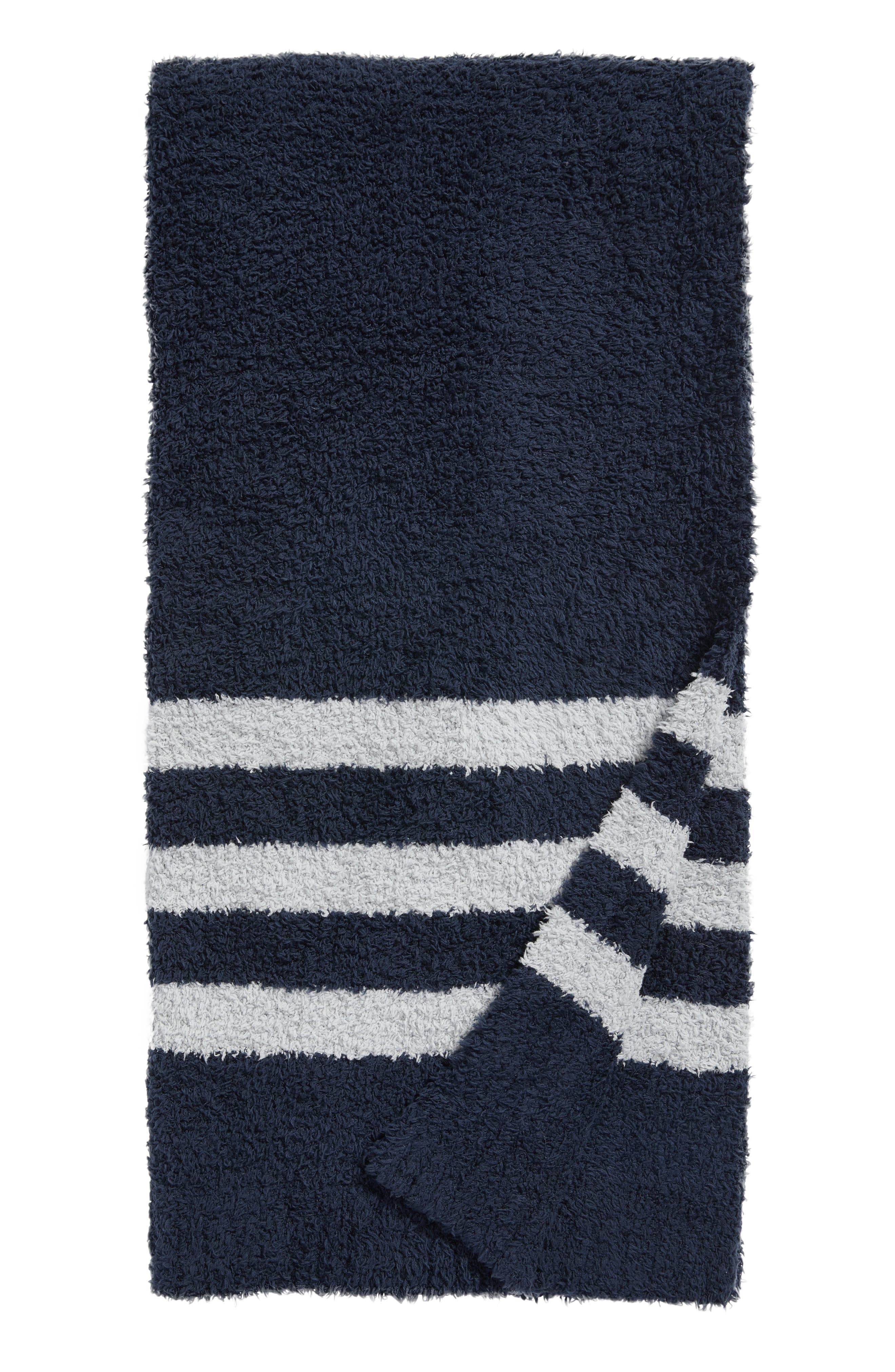 Barefoot Dreams Cozychic<sup>®</sup> Tri Stripe Throw Blanket,                             Main thumbnail 6, color,