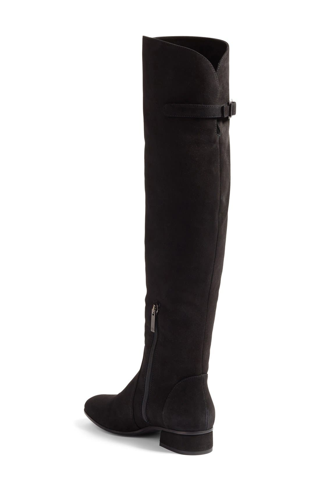 Lala Weatherproof Over the Knee Boot,                             Alternate thumbnail 4, color,                             001