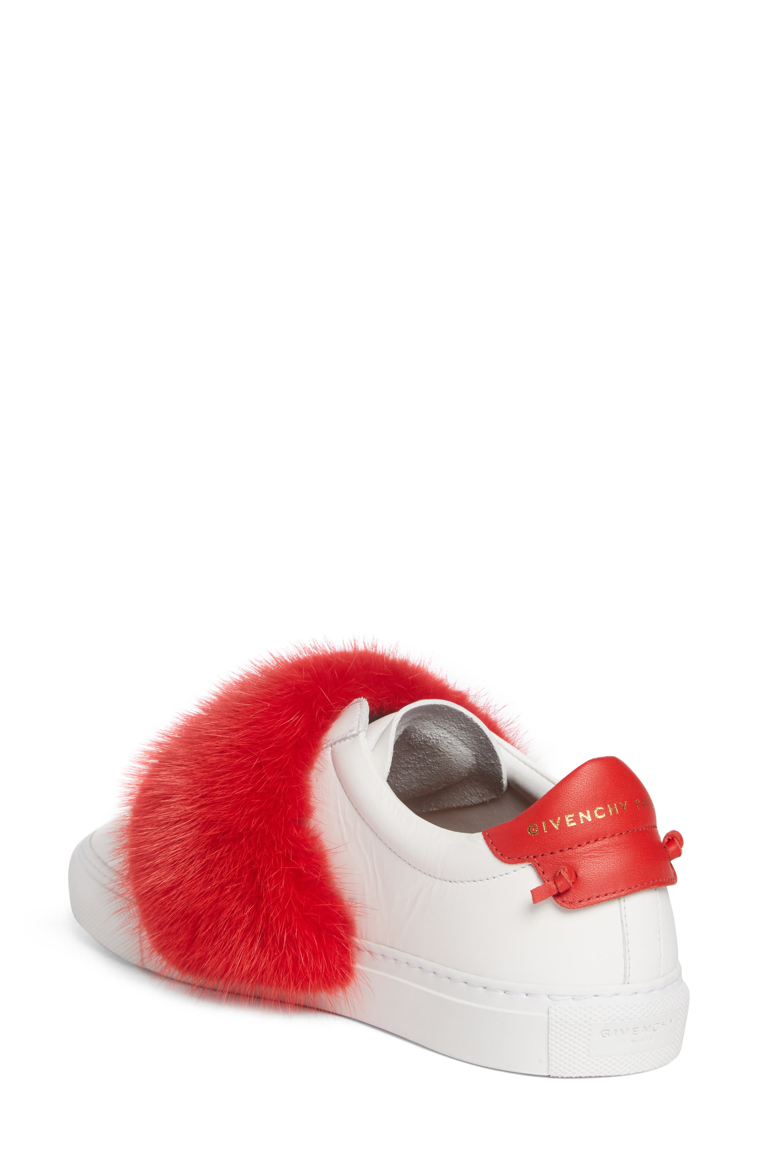 Urban Street Slip-On Sneaker with Genuine Mink Fur Trim,                             Alternate thumbnail 7, color,
