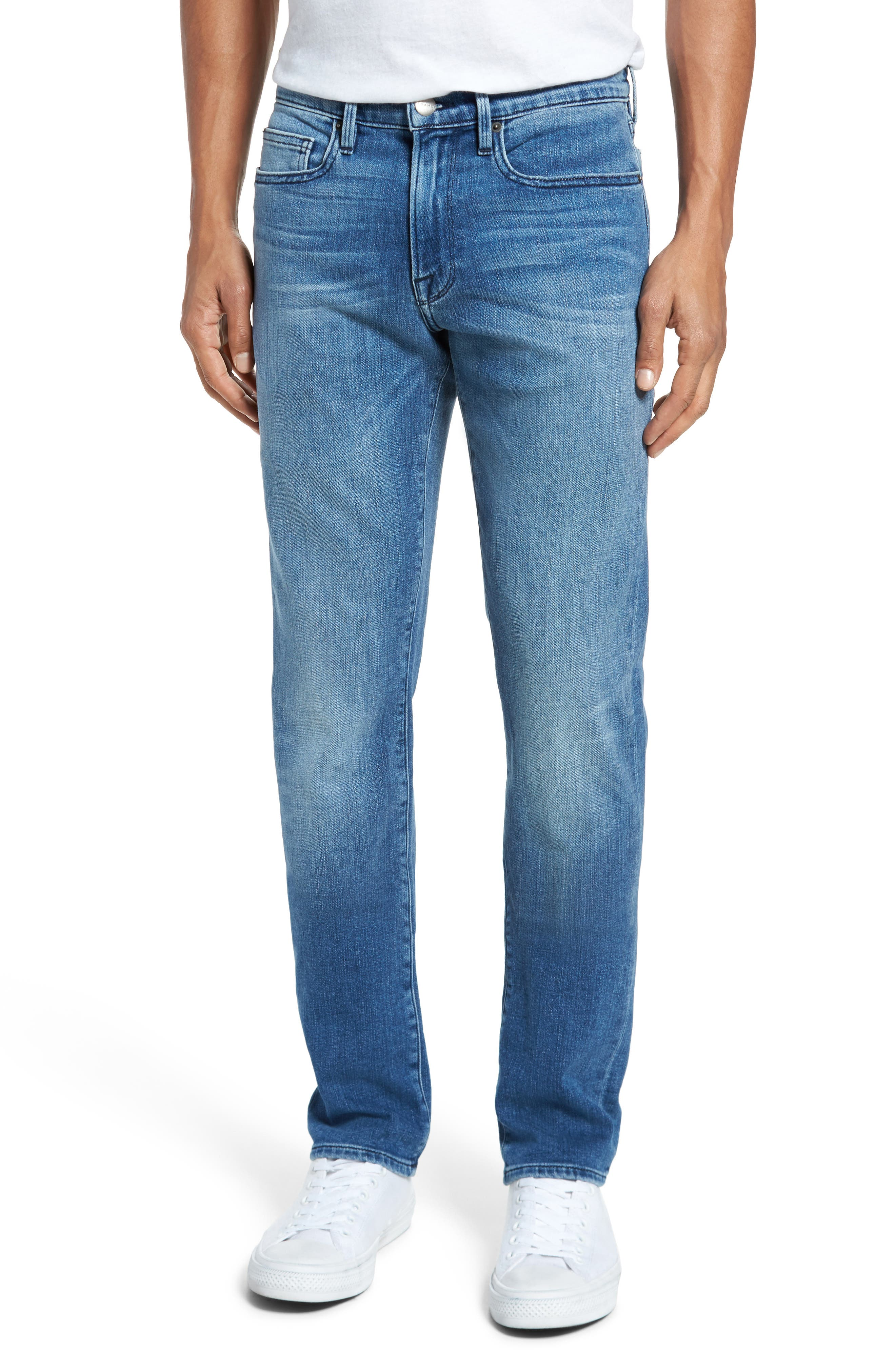 L'Homme Slim Fit Jeans,                         Main,                         color, BRADBURY