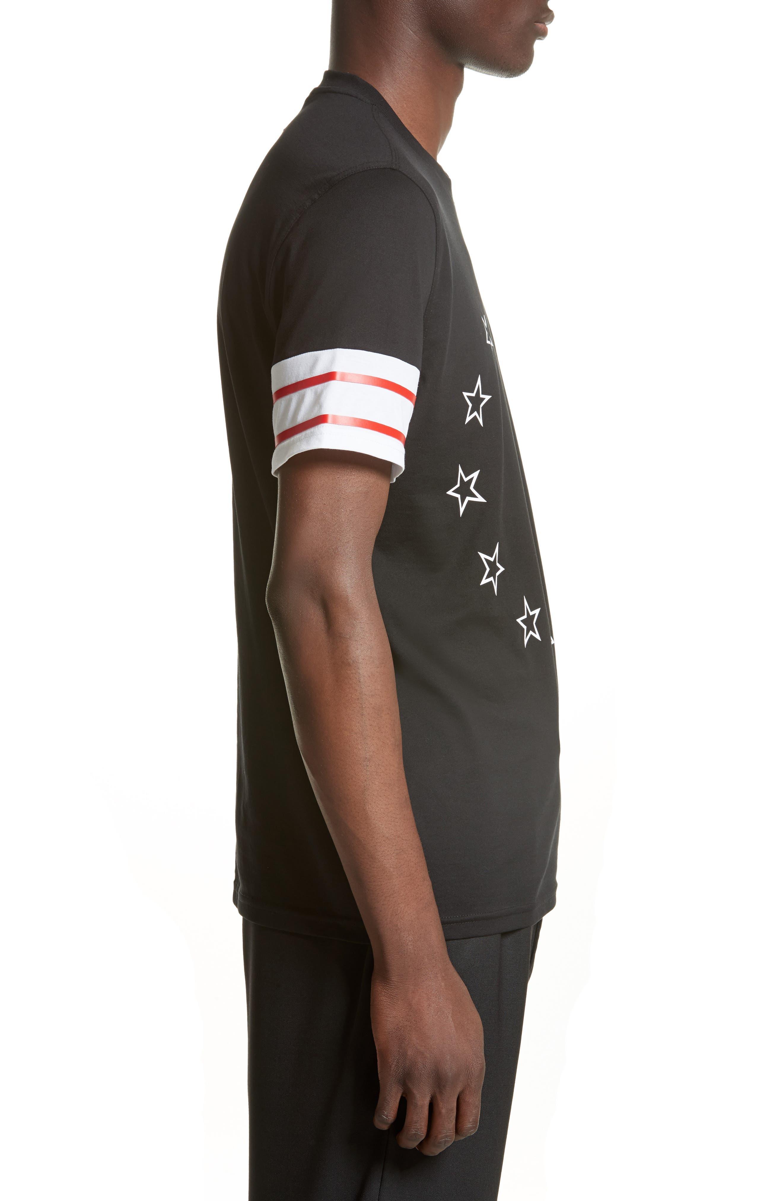 Cuban Fit Circle Star Graphic T-Shirt,                             Alternate thumbnail 3, color,                             001