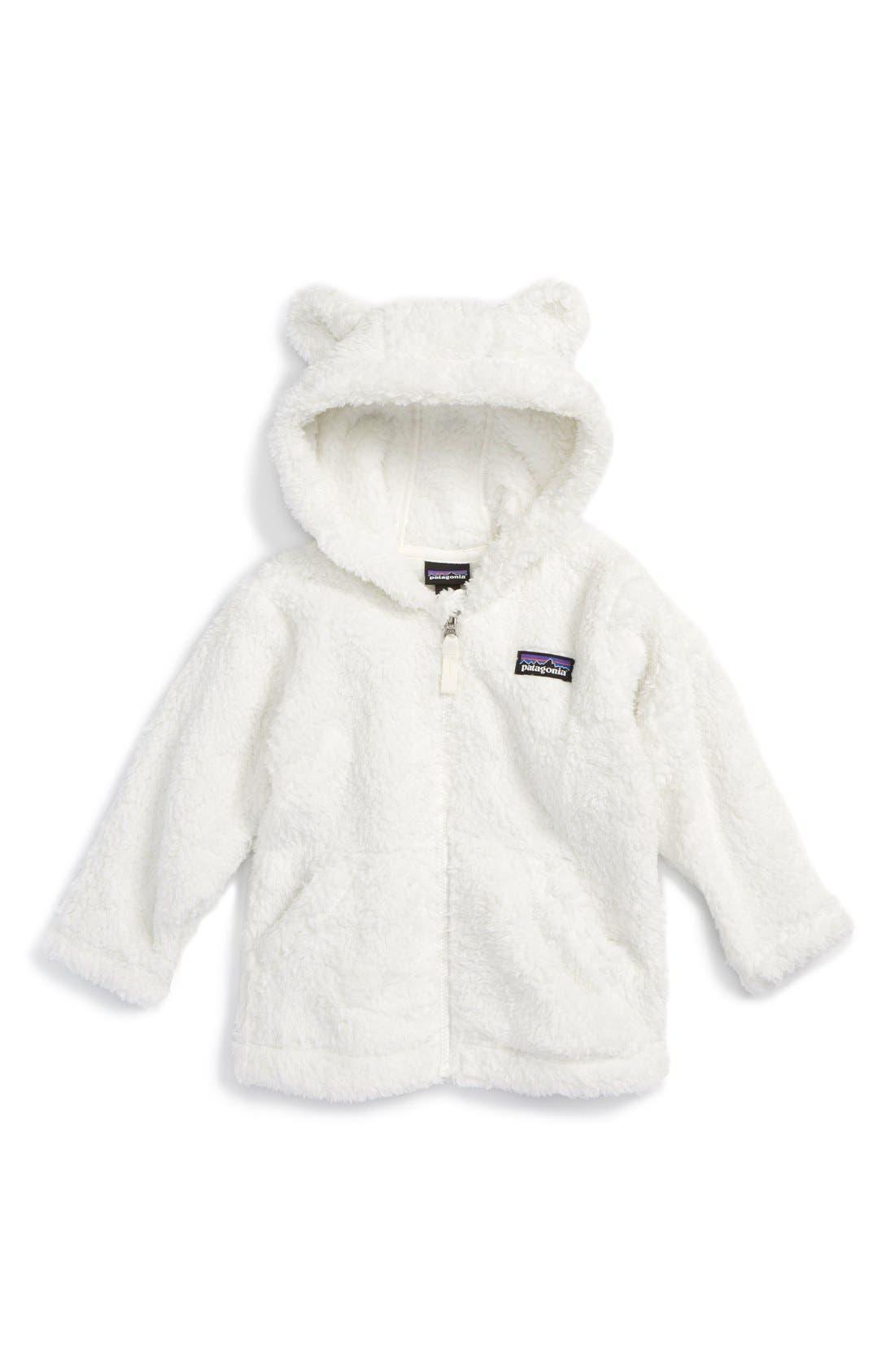 Furry Friends Fleece Hoodie,                         Main,                         color, BIRCH WHITE