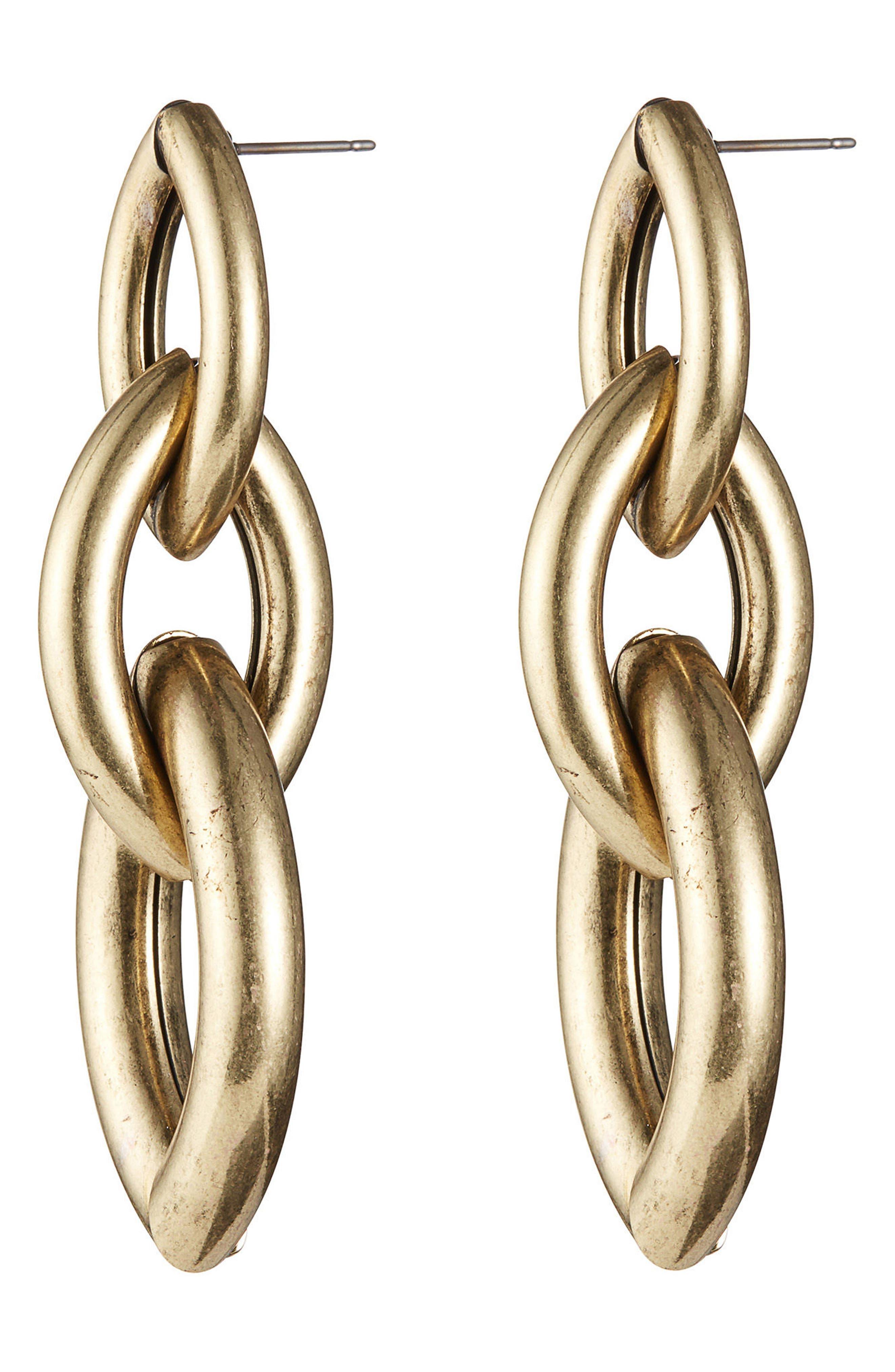 Sloane Drop Earrings,                             Alternate thumbnail 3, color,                             GOLD