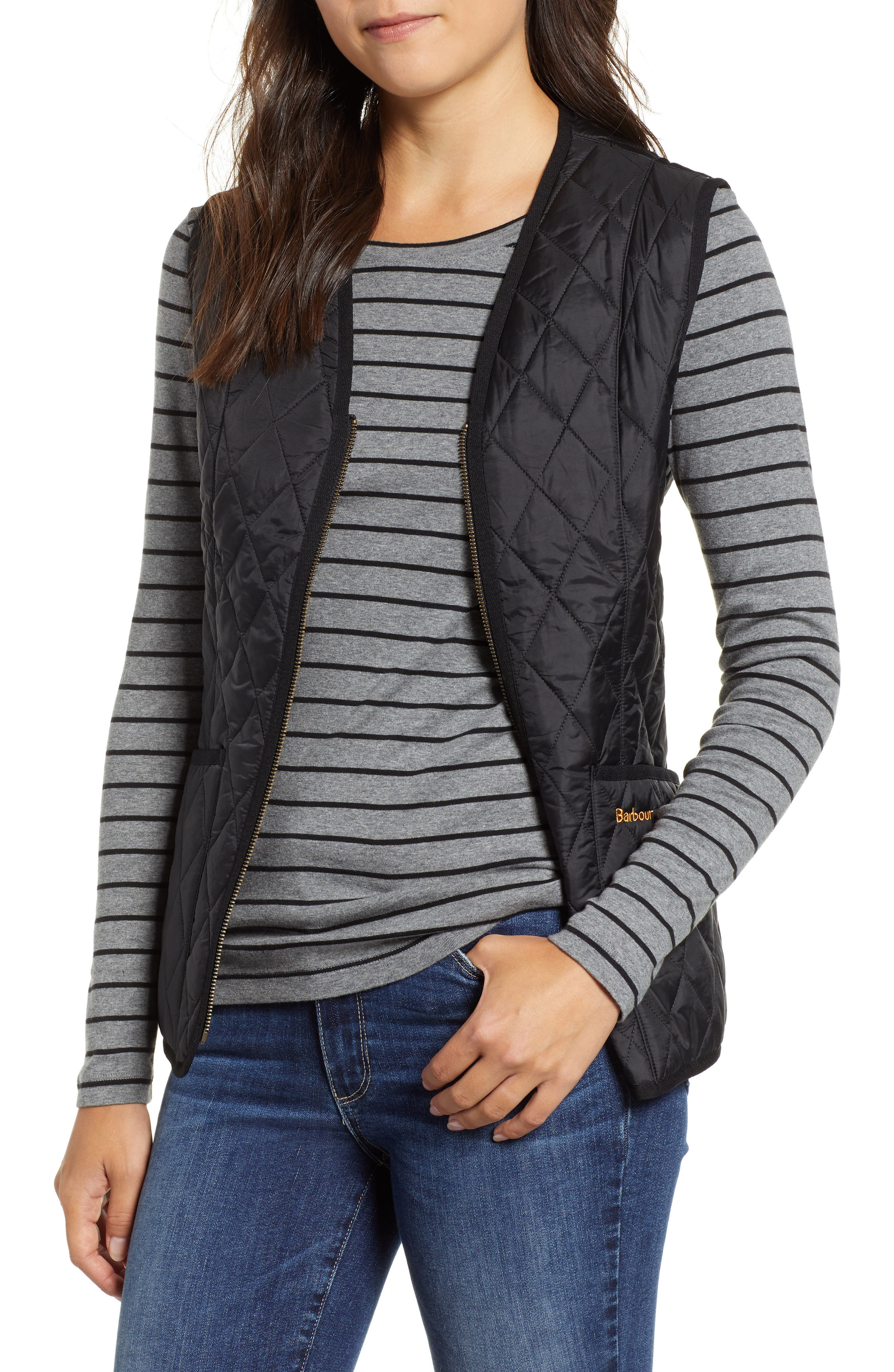 Betty Quilted Vest,                             Main thumbnail 1, color,                             001