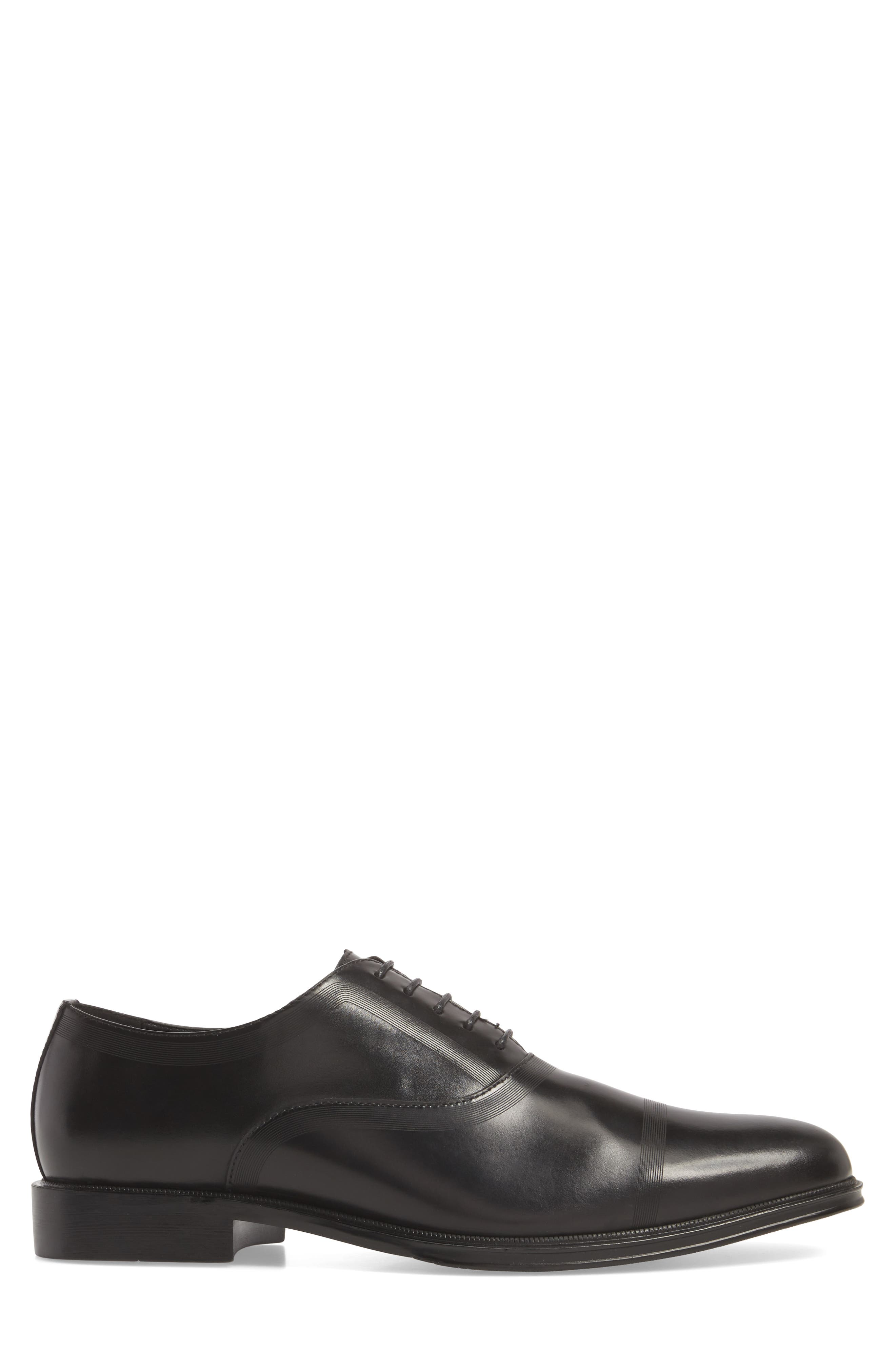 Zac Lace-Up Oxford,                             Alternate thumbnail 3, color,                             BLACK