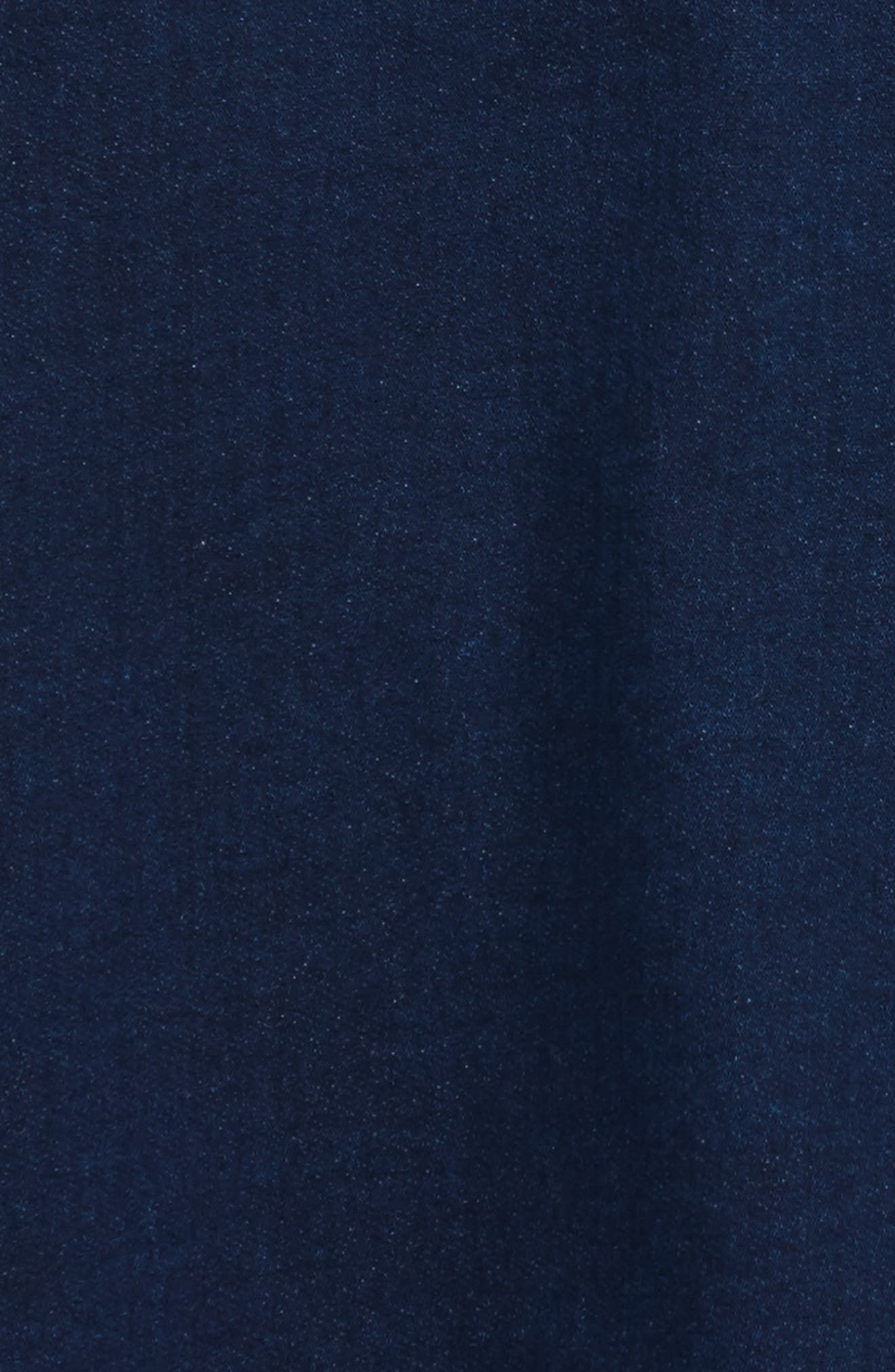 Knit Collar Denim Dress,                             Alternate thumbnail 3, color,