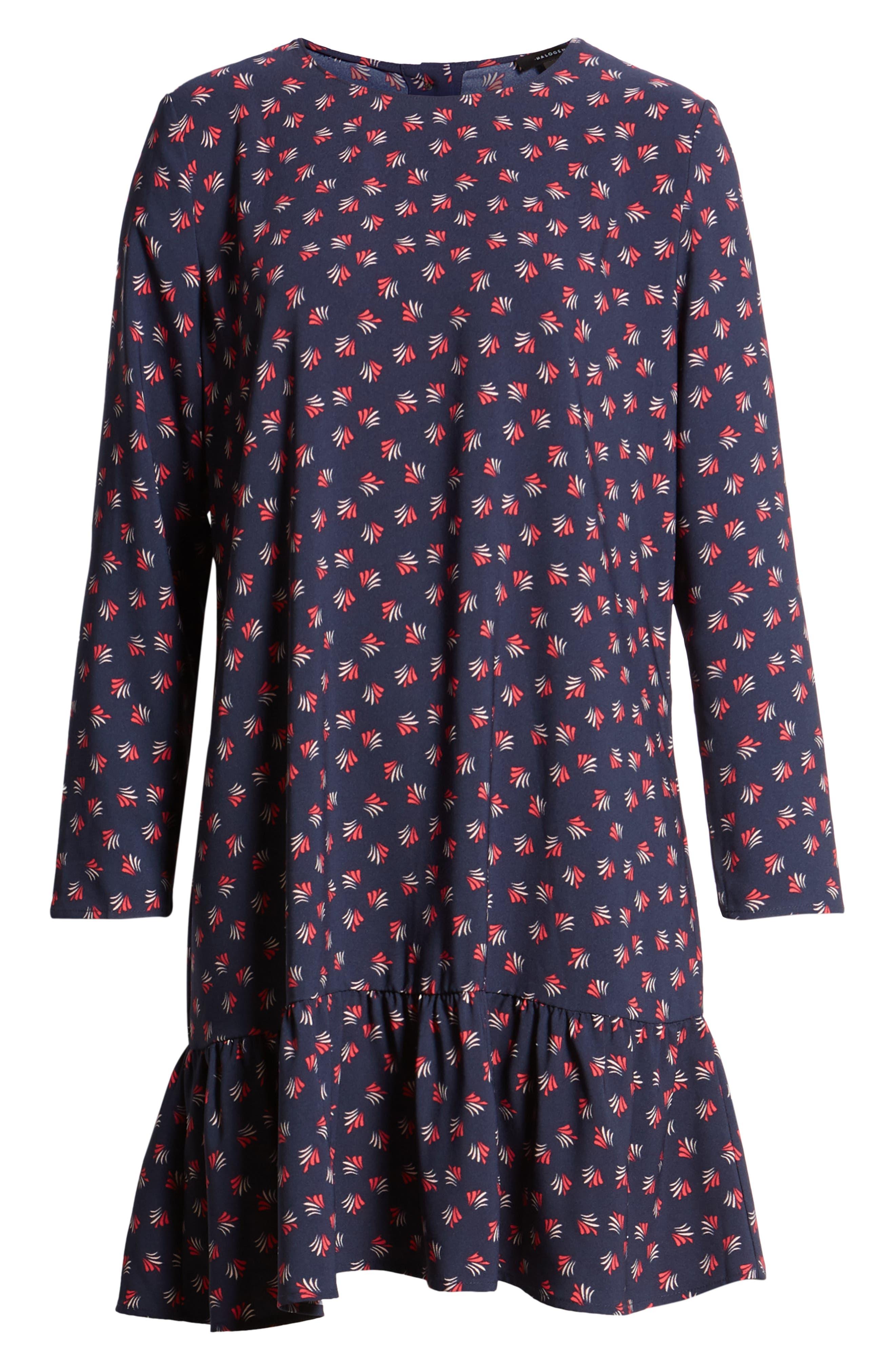 Button Back Ruffle Hem Dress,                             Alternate thumbnail 56, color,