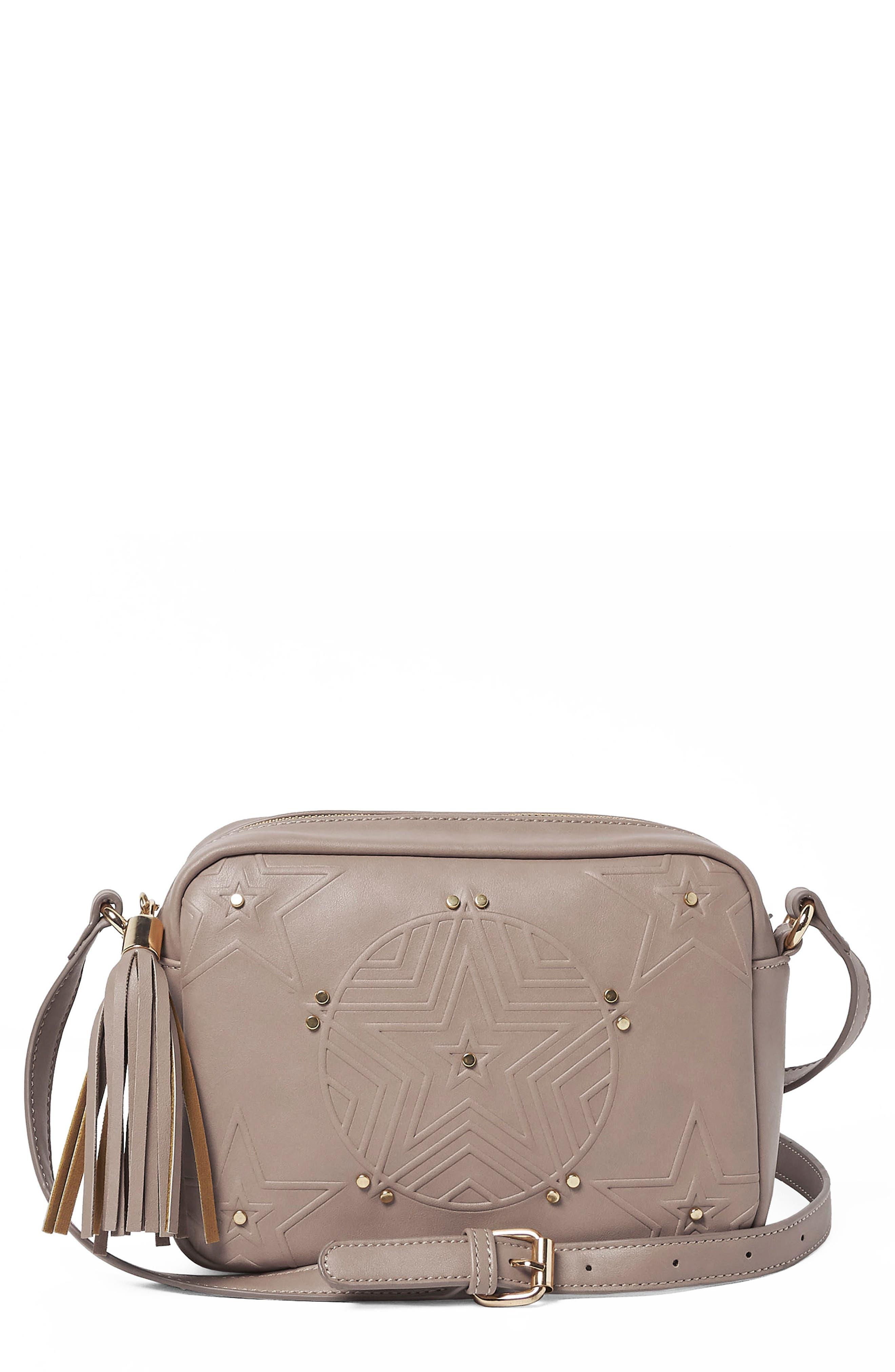 Stargazer Vegan Leather Crossbody Bag,                             Main thumbnail 2, color,