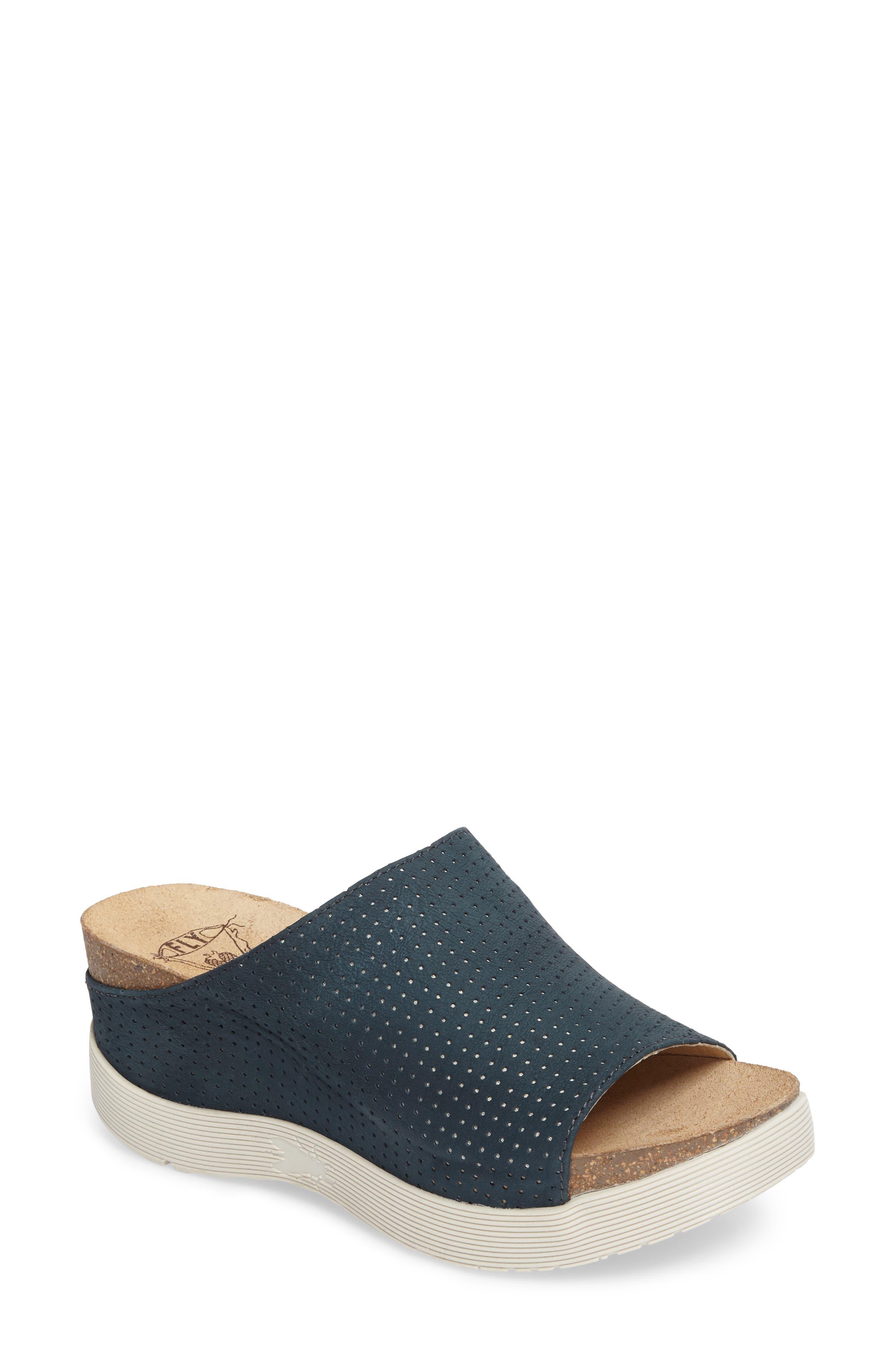 Fly London Whin Platform Sandal - Blue