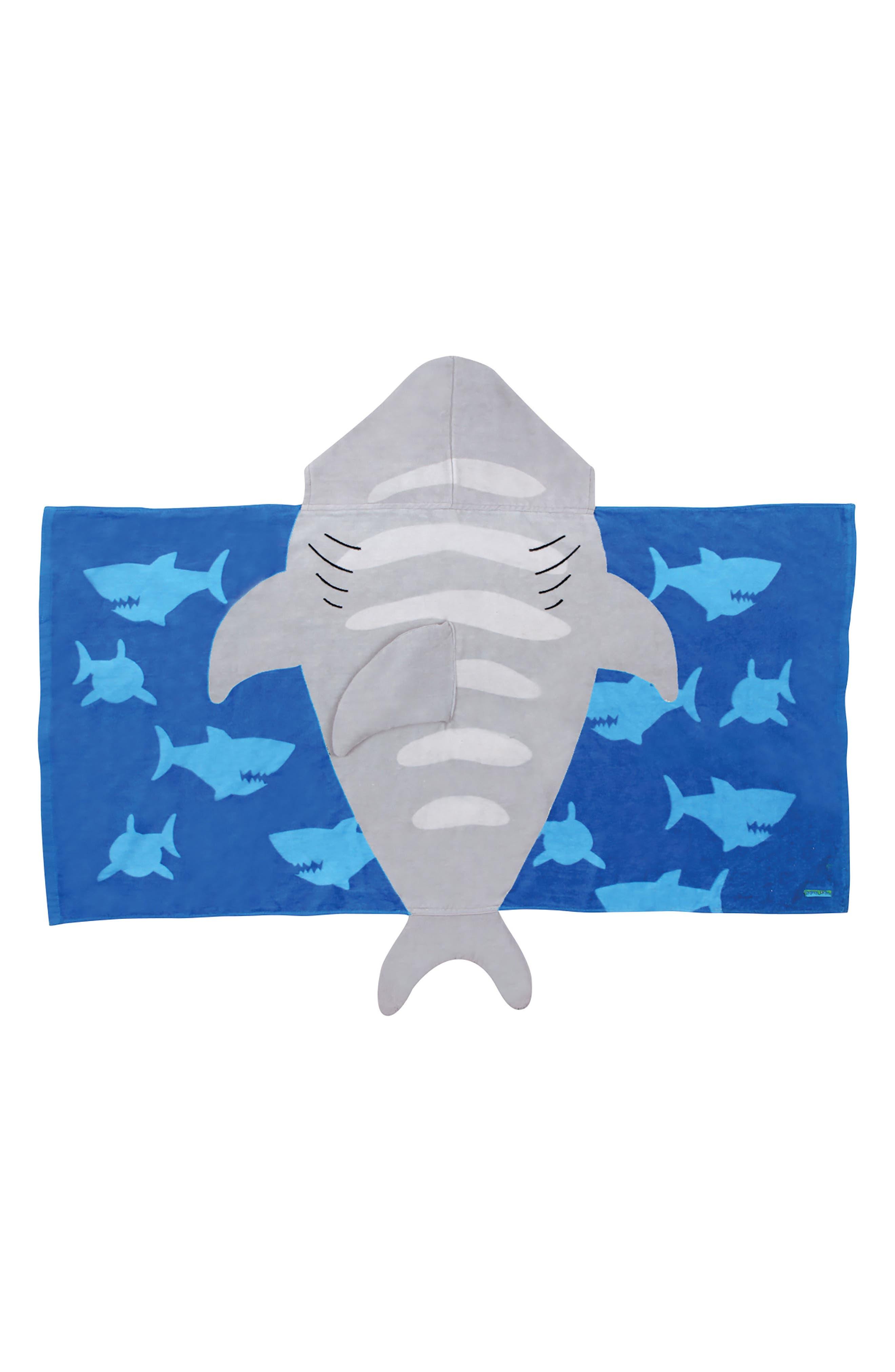 Beach Tote & Hooded Towel Set,                             Alternate thumbnail 2, color,                             GRAY SHARK