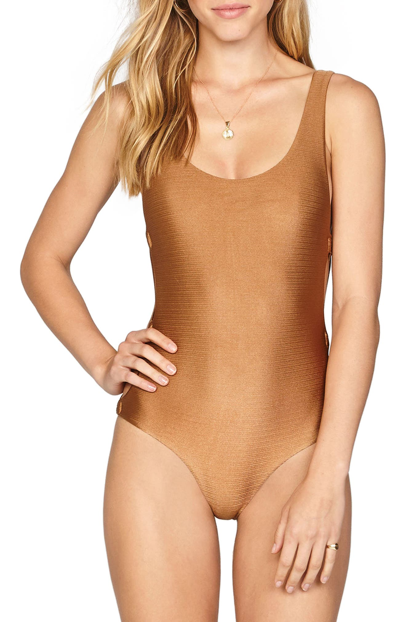 Estelle Cutout One-Piece Swimsuit,                         Main,                         color, 200