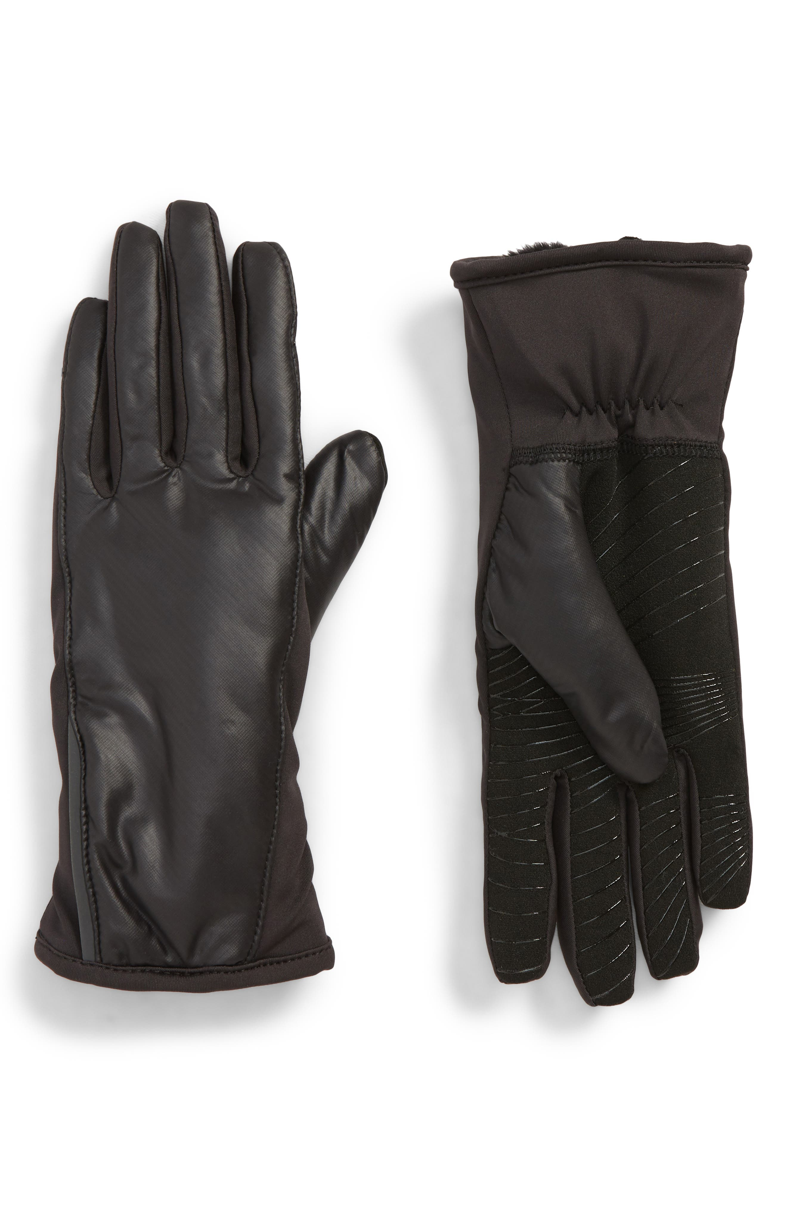 All Weather Heat Touchscreen Compatible Gloves,                             Main thumbnail 1, color,                             BLACK