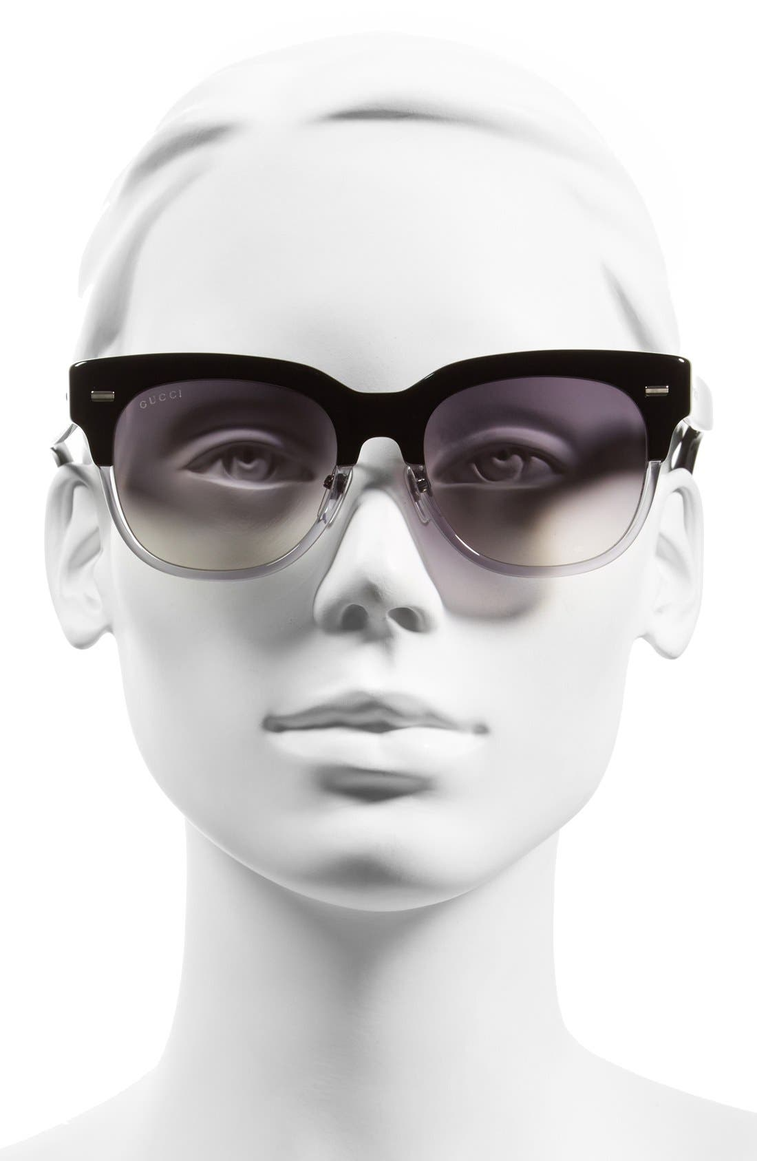 52mm Retro Sunglasses,                             Alternate thumbnail 2, color,                             001