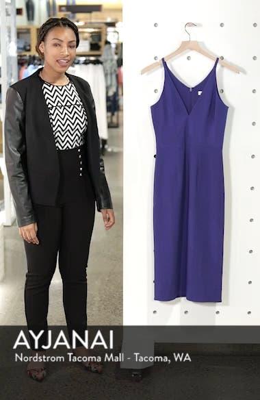 Lyla Crepe Sheath Dress, sales video thumbnail