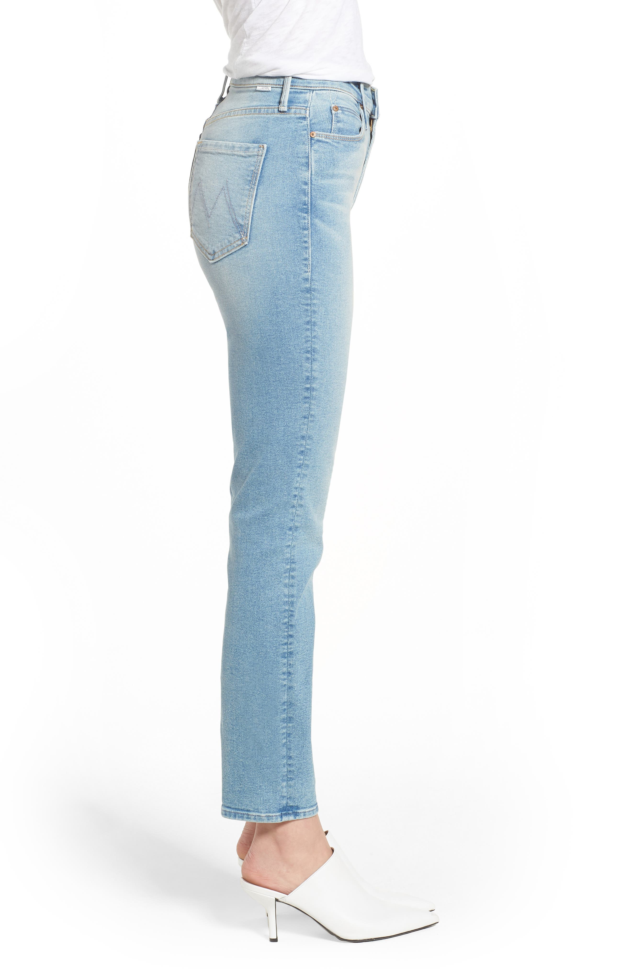 The Dazzler Ankle Straight Leg Jeans,                             Alternate thumbnail 3, color,                             READY TO ROLL