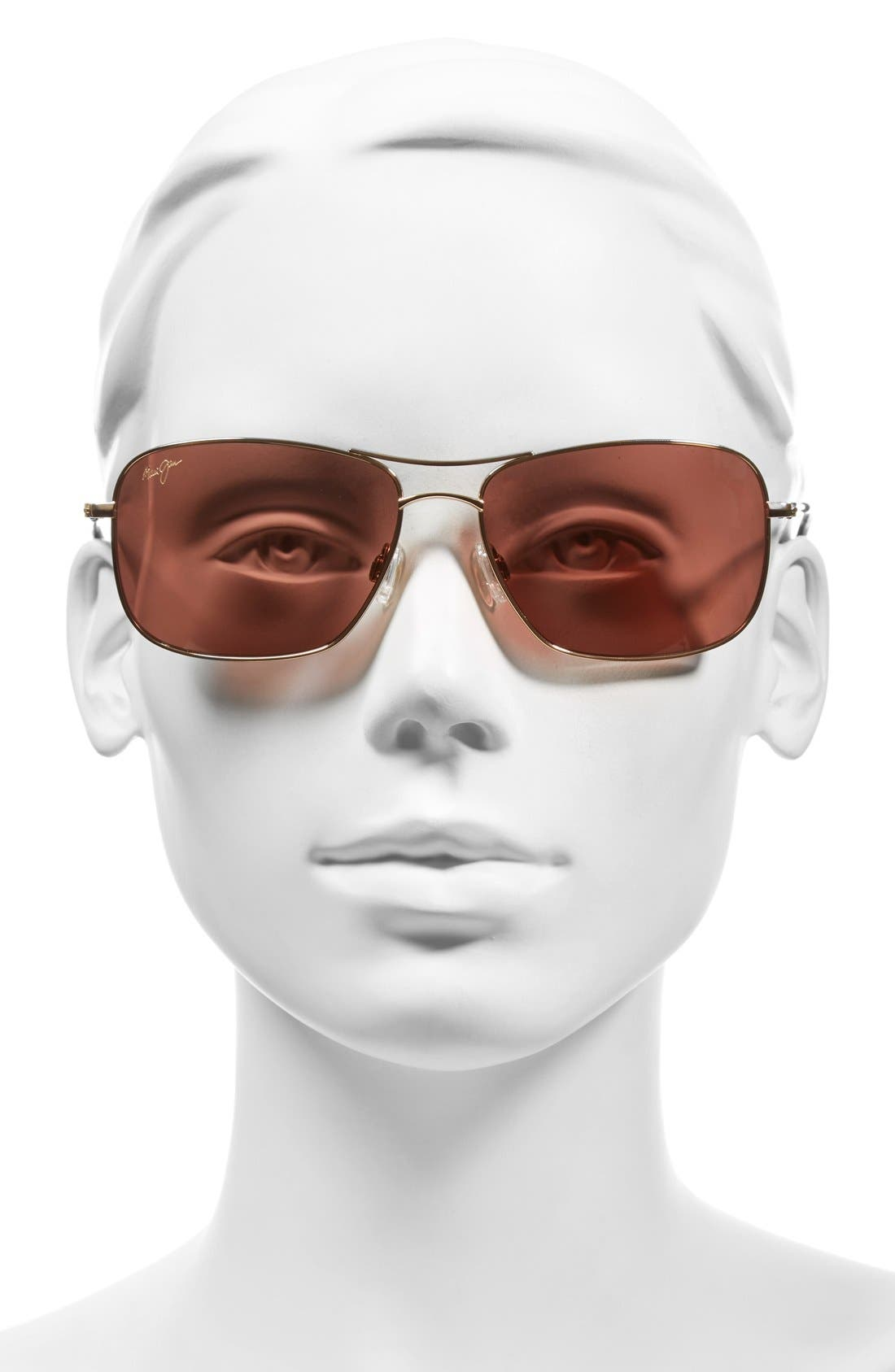 Wiki Wiki 59mm PolarizedPlus2<sup>®</sup> Sunglasses,                             Alternate thumbnail 2, color,                             GOLD/ MAUI ROSE