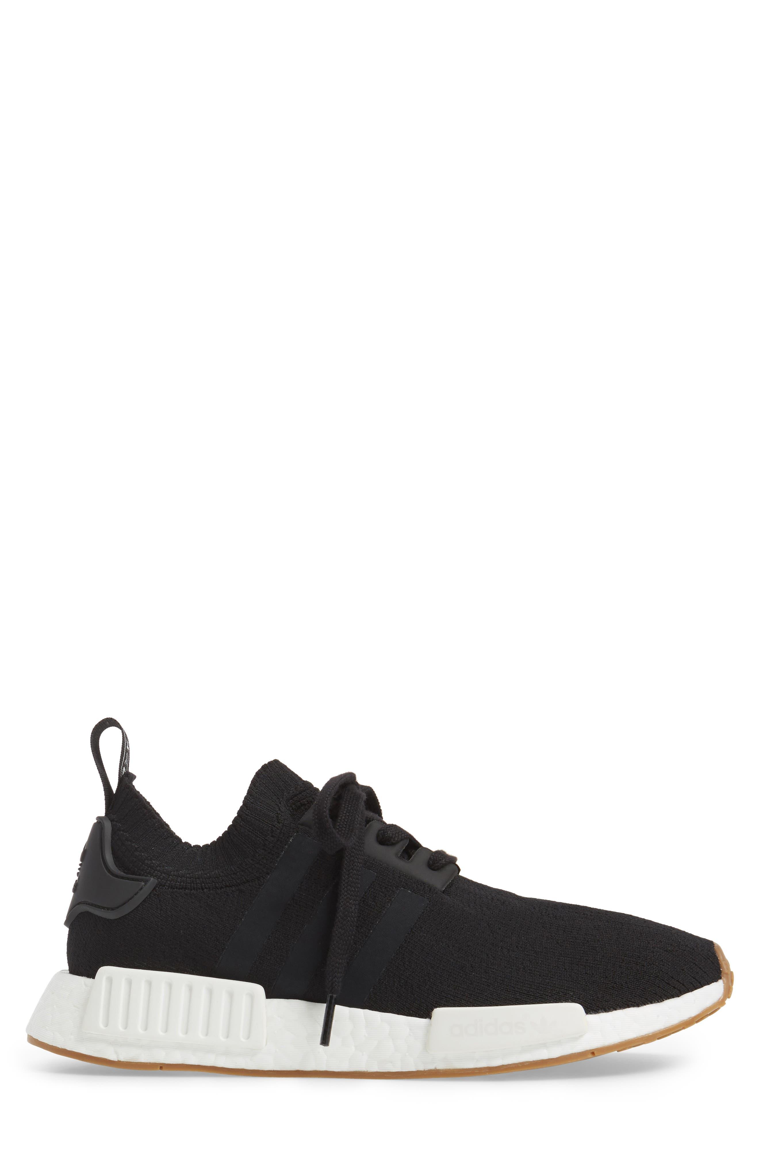 NMD R1 Primeknit Sneaker,                             Alternate thumbnail 3, color,                             002