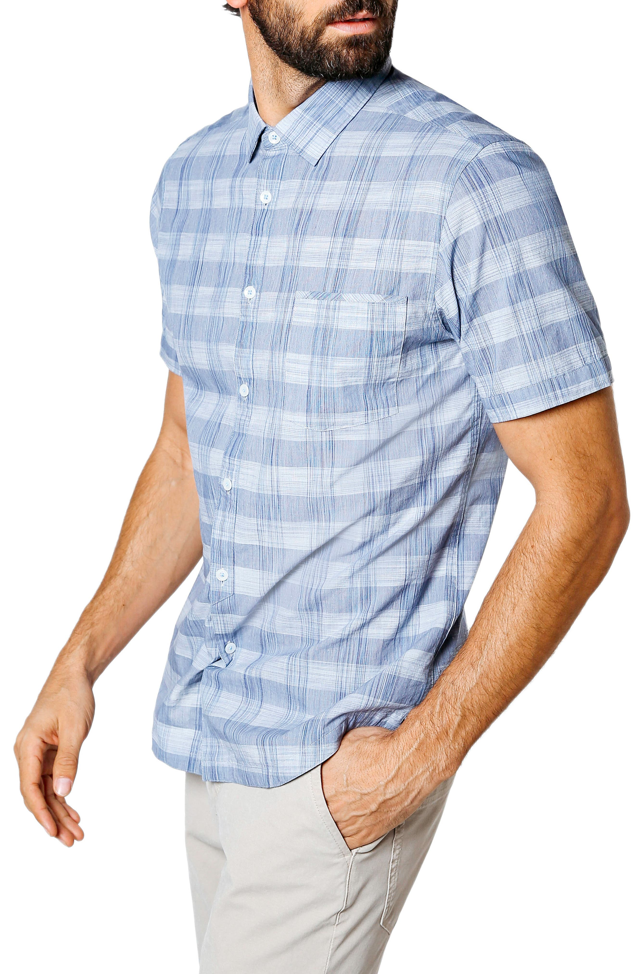GOOD MAN BRAND,                             Palisade Space Trim Fit Check Sport Shirt,                             Alternate thumbnail 3, color,                             410