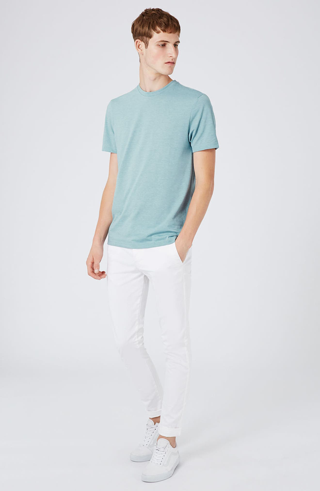 Slim Fit Crewneck T-Shirt,                             Alternate thumbnail 385, color,