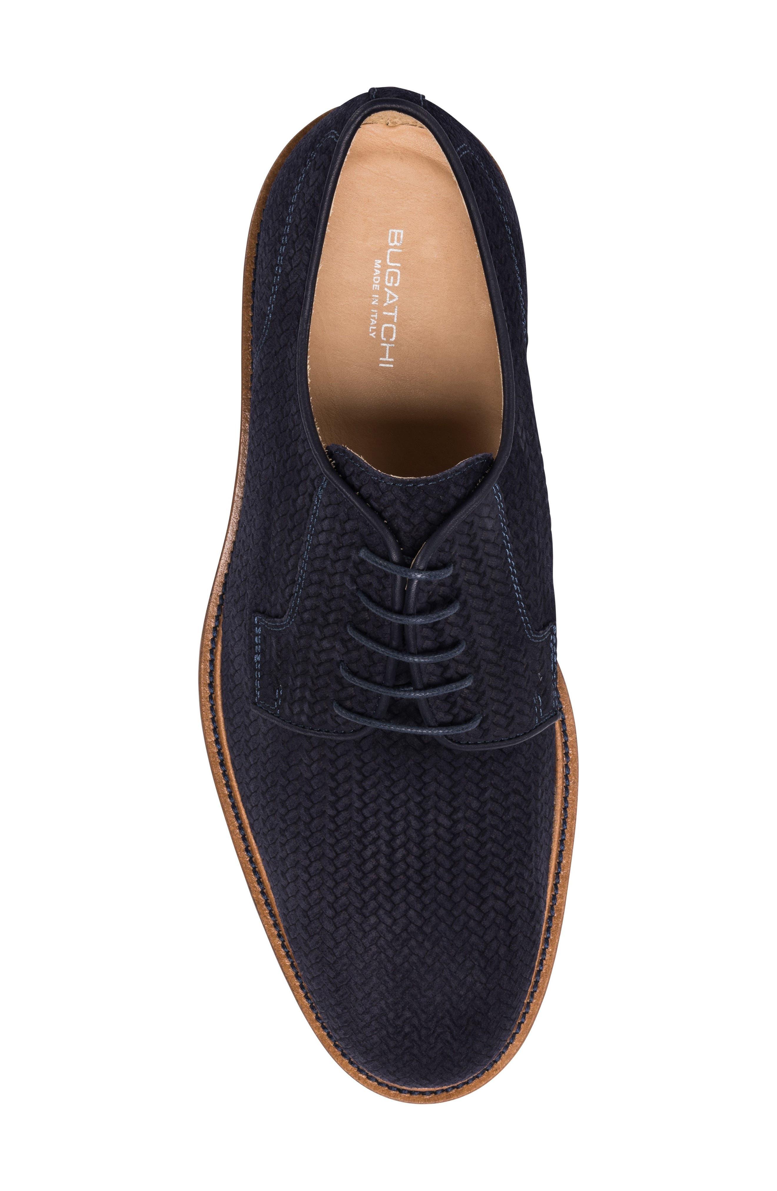 Woven Plain Toe Derby,                             Alternate thumbnail 5, color,                             BLUE SUEDE