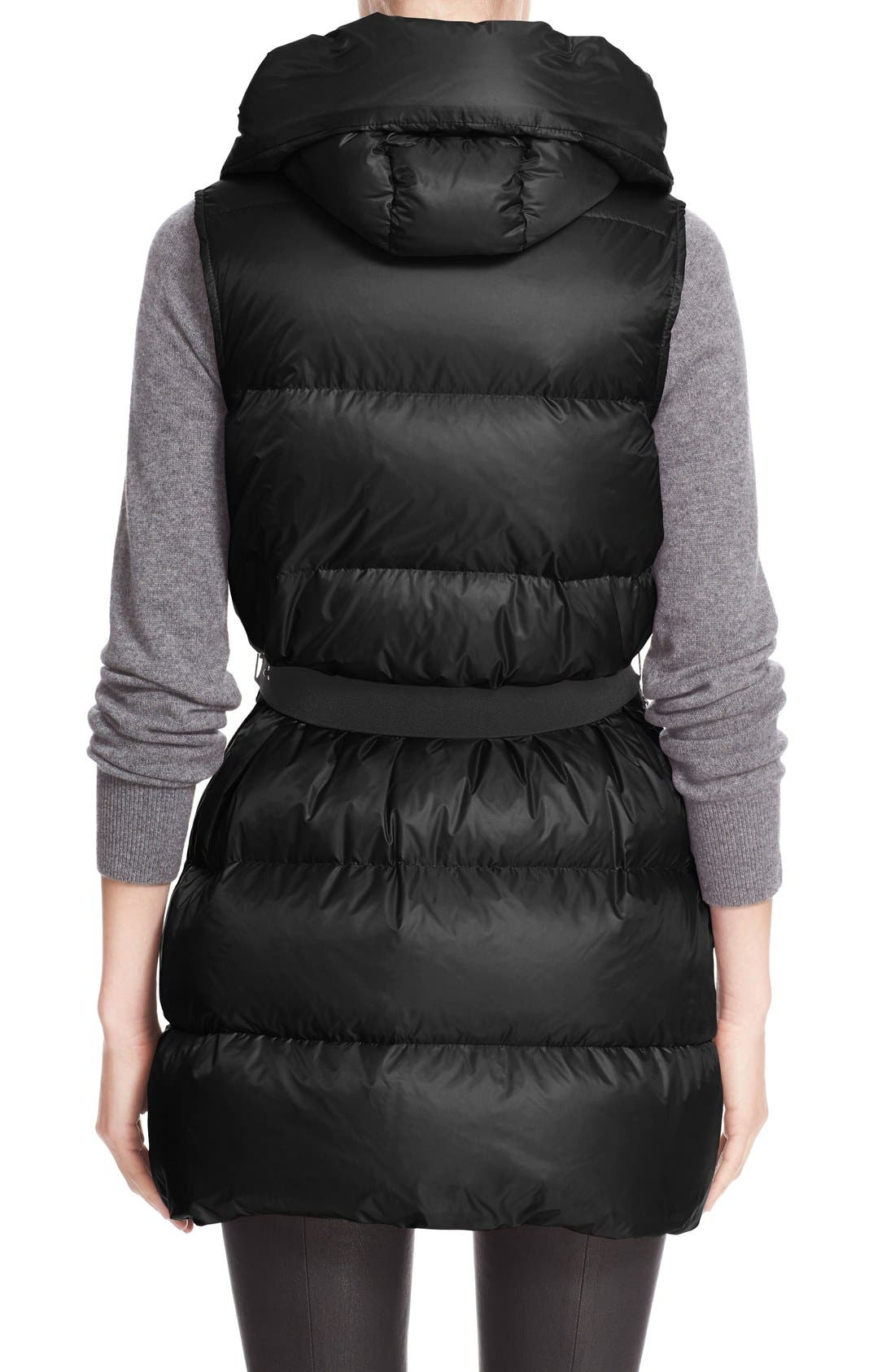 'Glykeria' Water Resistant Hooded Down Puffer Vest,                             Alternate thumbnail 2, color,                             001