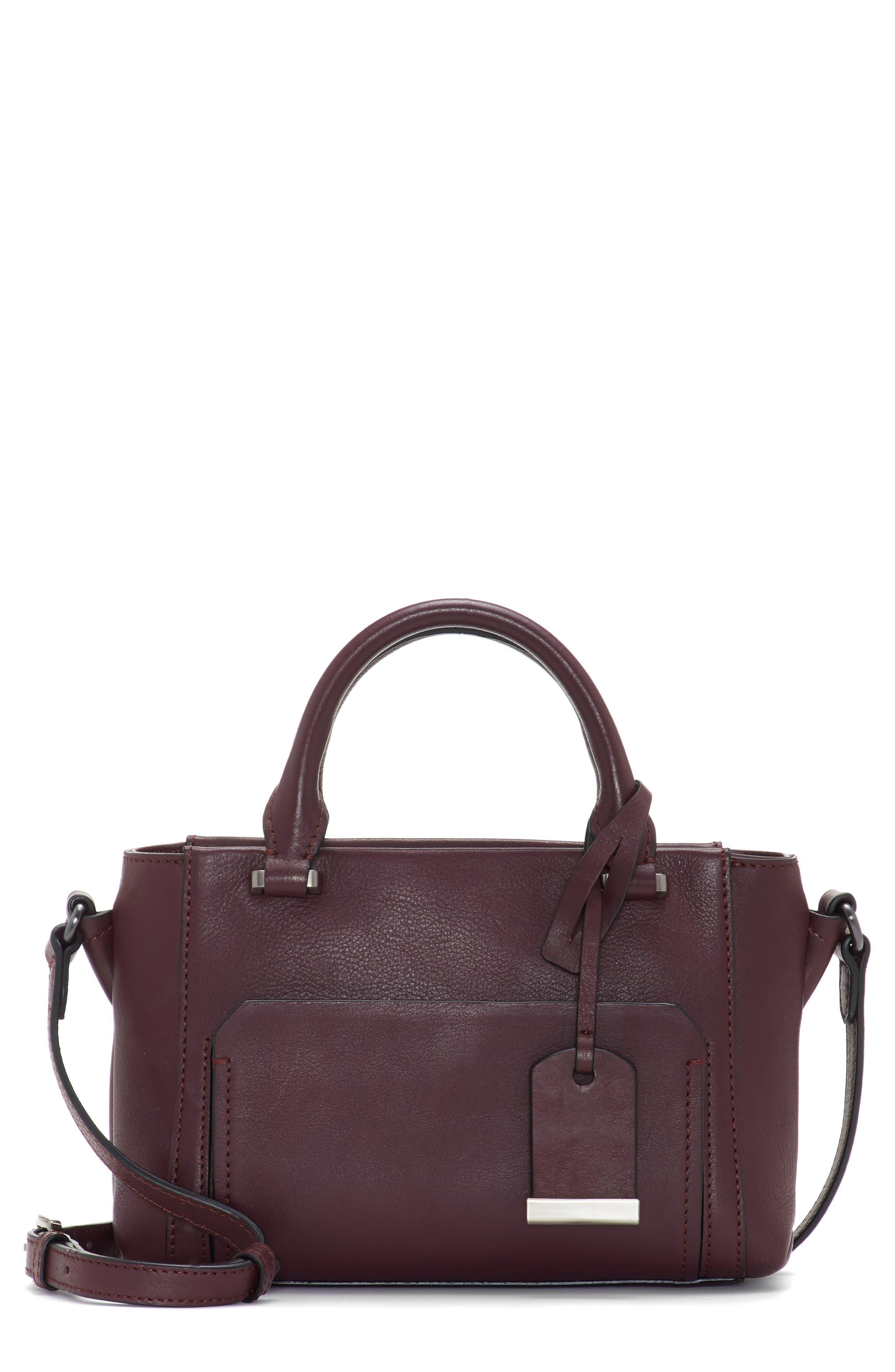 Small Lina Leather Crossbody Bag,                             Main thumbnail 1, color,                             VAMP