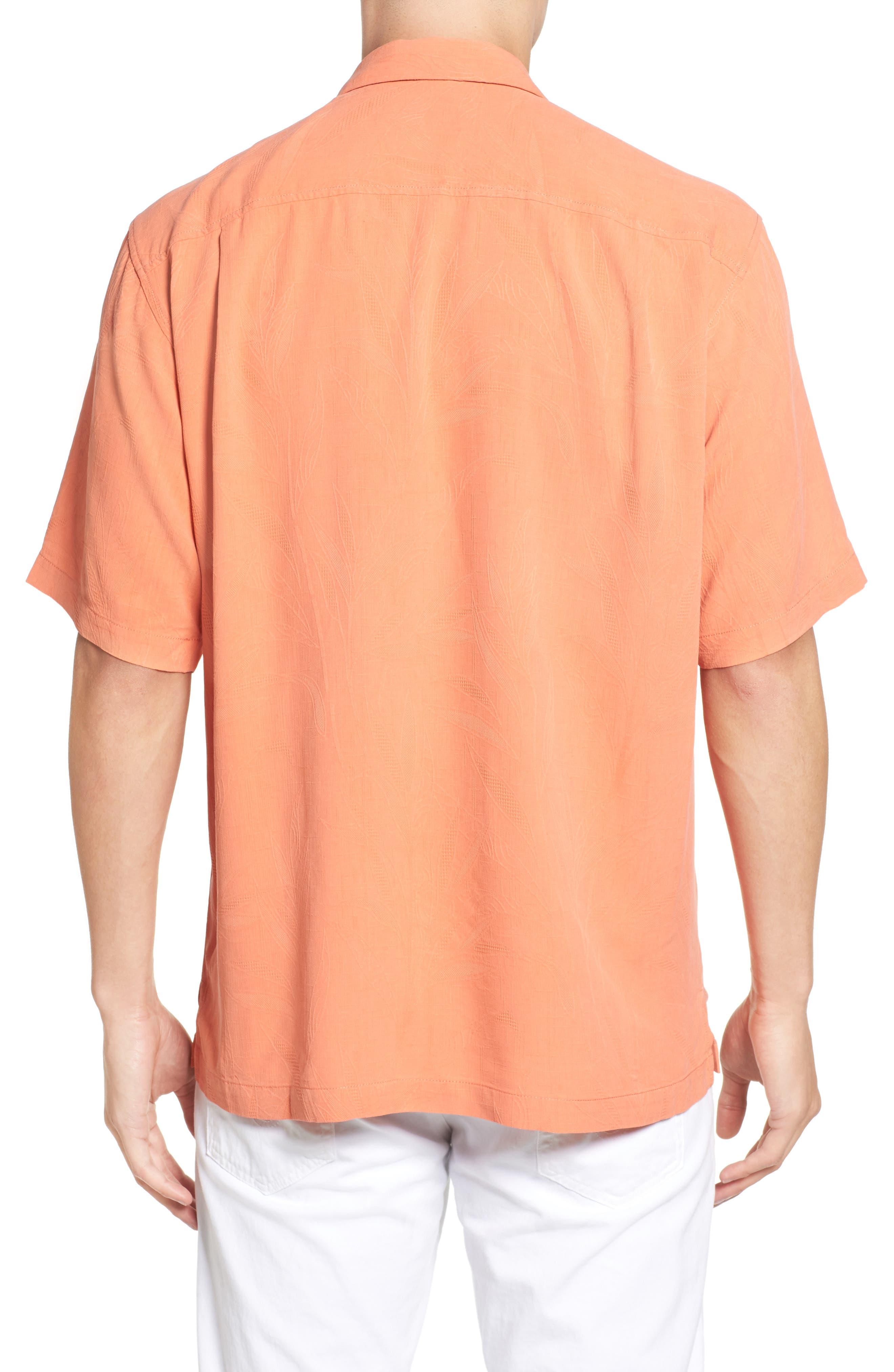 Islander Fronds Silk Camp Shirt,                             Alternate thumbnail 18, color,