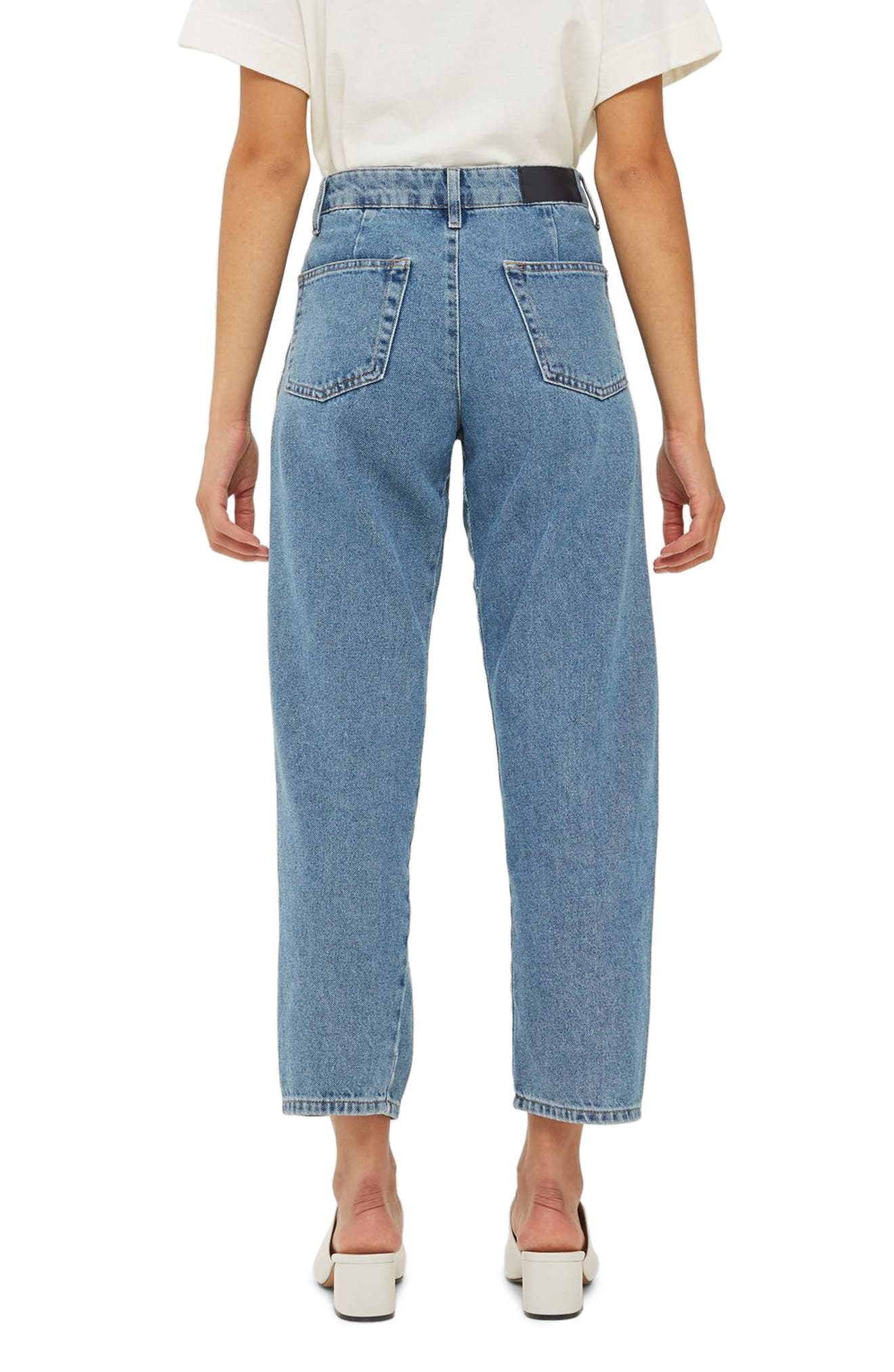 Displaced Seam Boyfriend Jeans,                             Alternate thumbnail 2, color,                             400