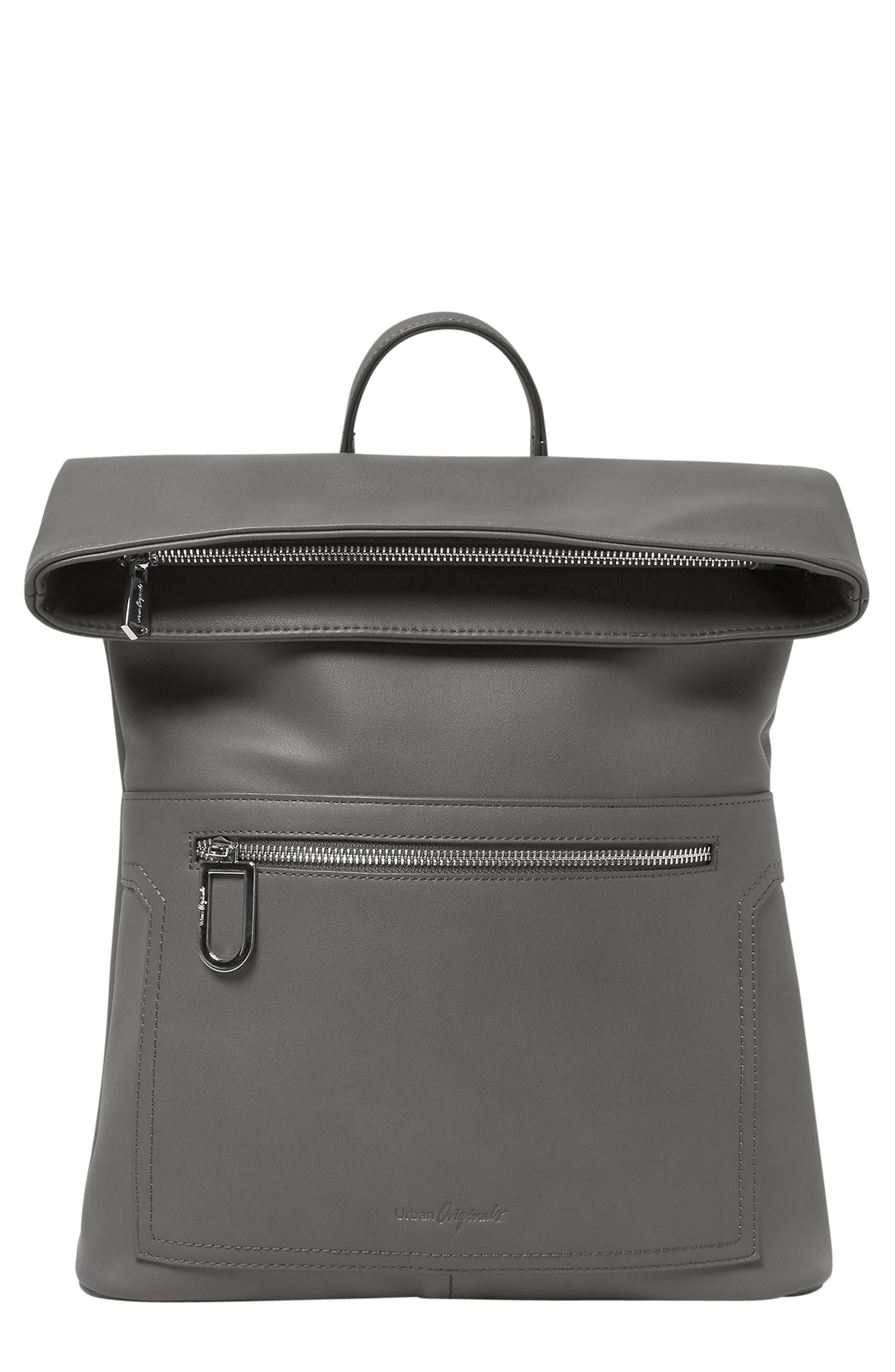 Sincerely Vegan Leather Backpack - Grey