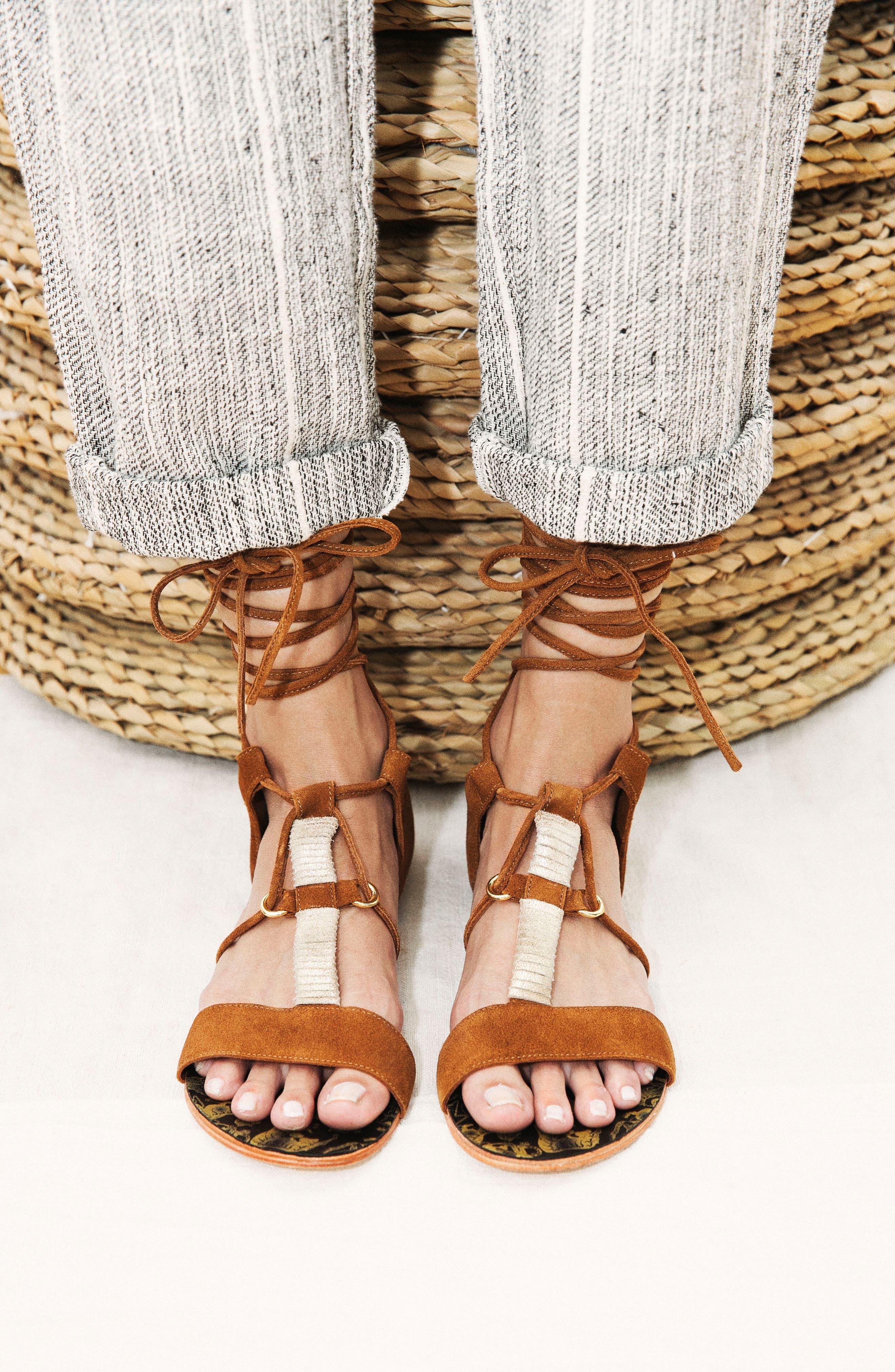 Fiji Wraparound Sandal,                             Alternate thumbnail 7, color,                             230