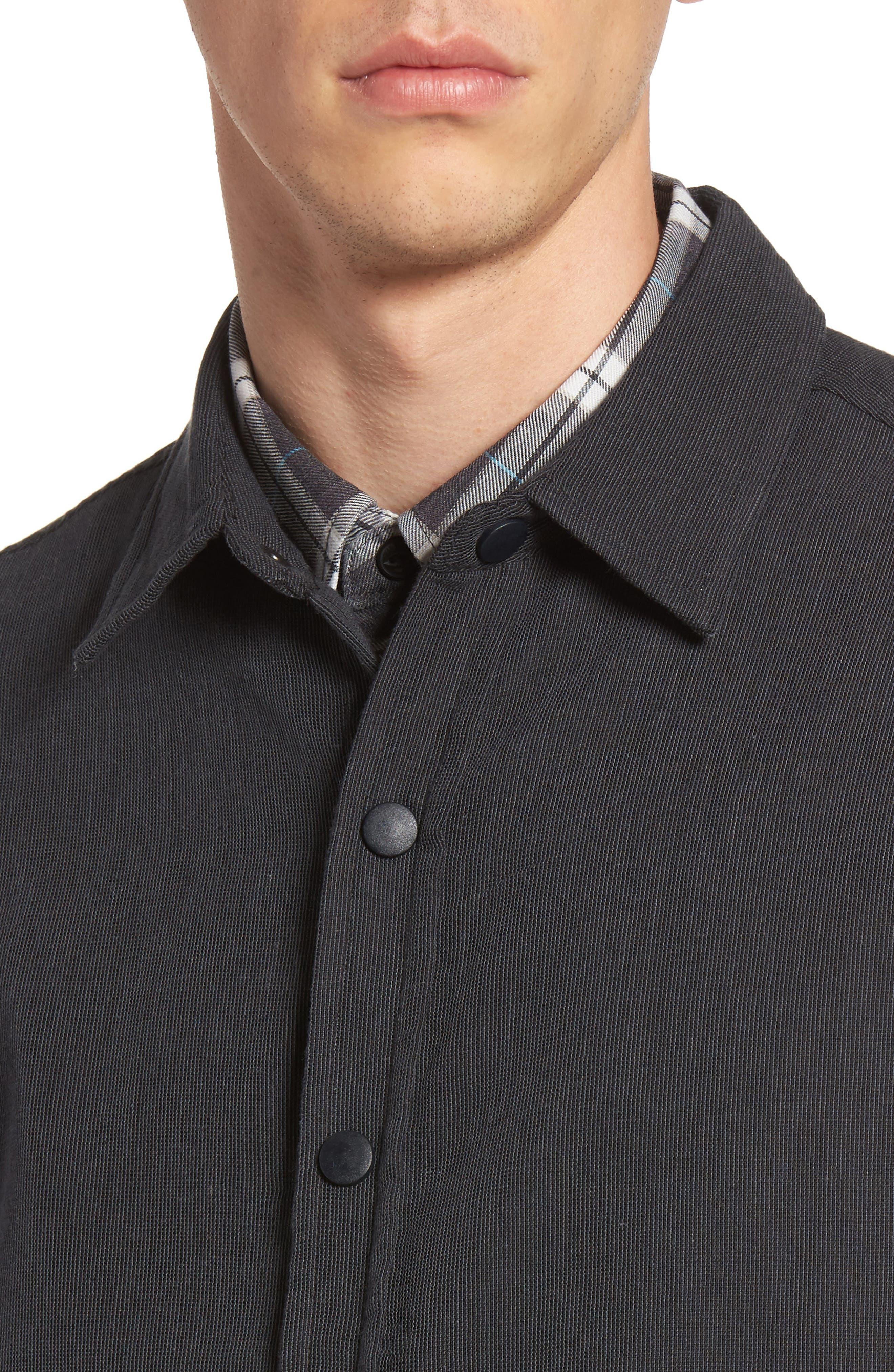 Textured Cotton Coach's Jacket,                             Alternate thumbnail 4, color,                             001