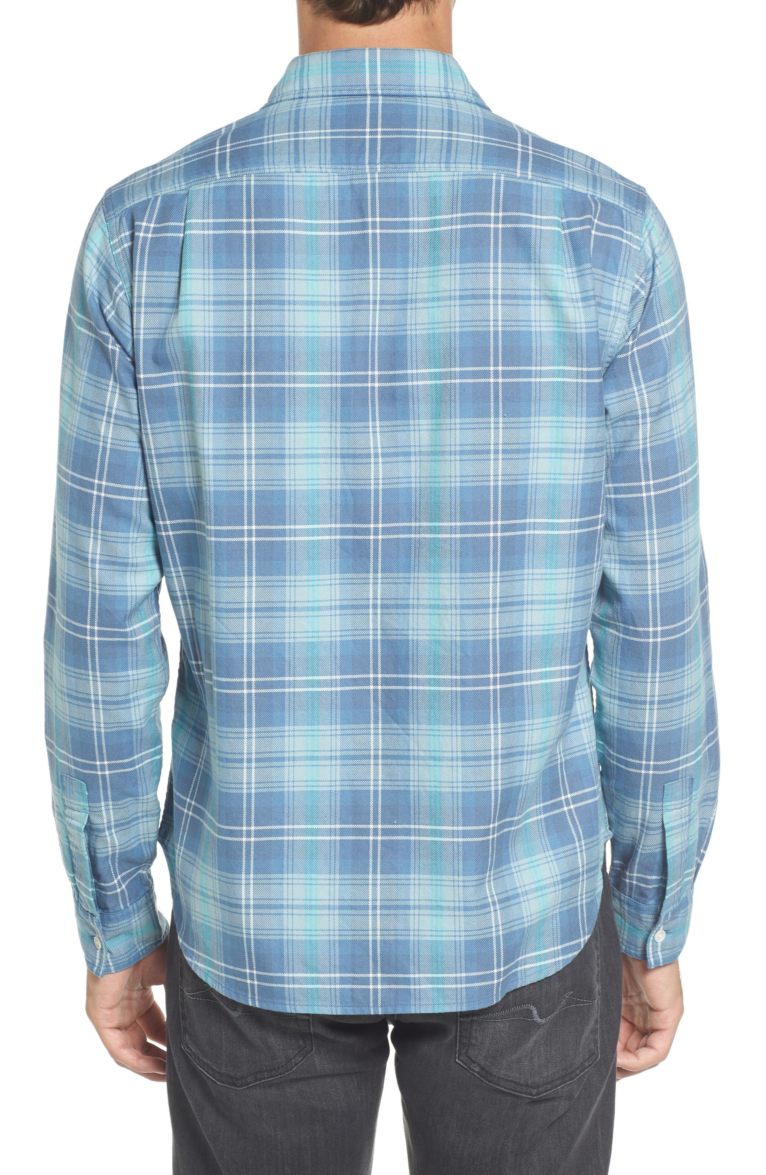 Slim Fit Plaid Flannel Sport Shirt,                             Alternate thumbnail 2, color,                             400